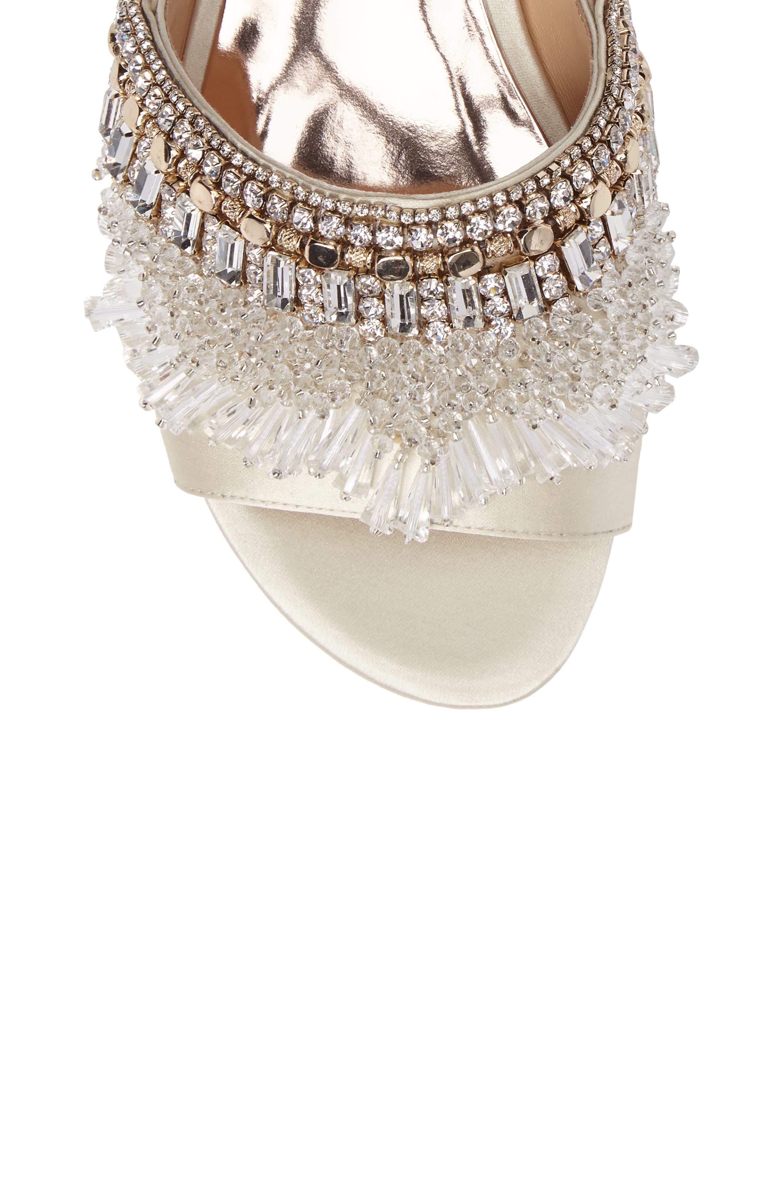 Alternate Image 5  - Badgley Mischka Kassandra Embellished Slide Sandal (Women)