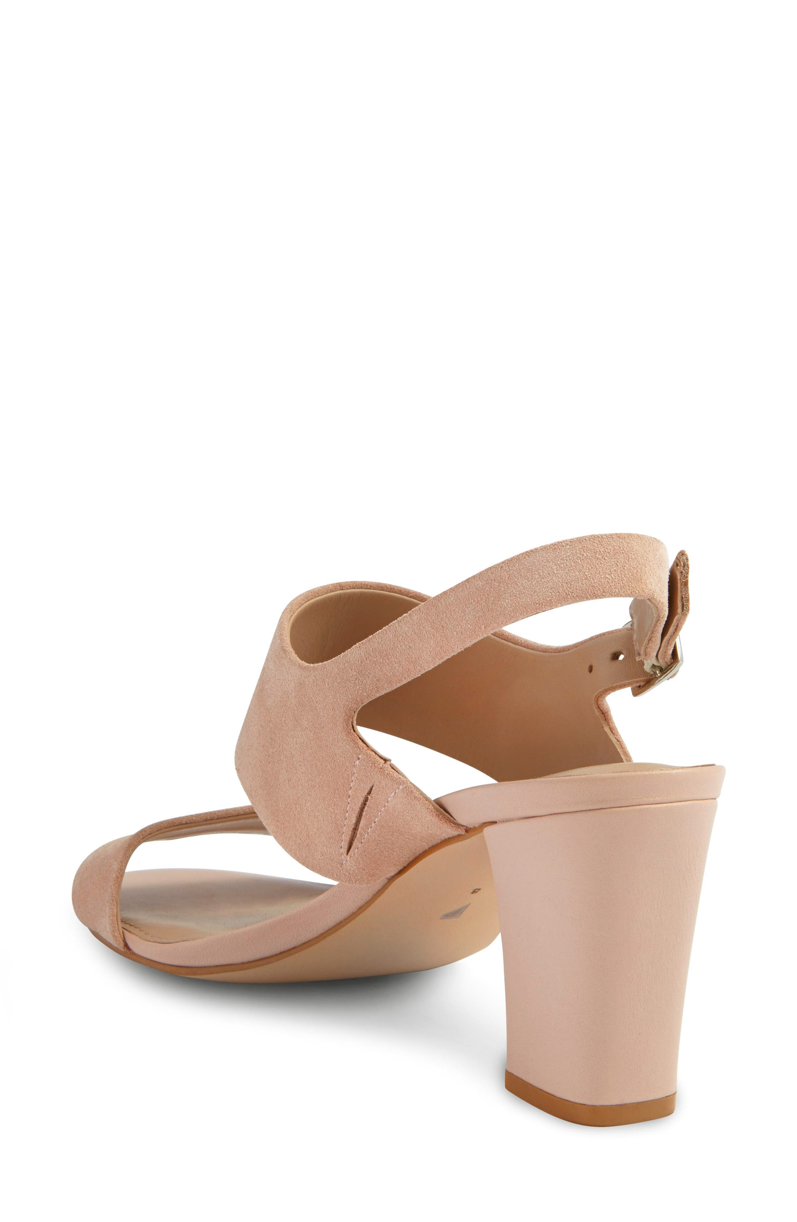 Strappy Sandal,                             Alternate thumbnail 2, color,                             Blush Nude Suede