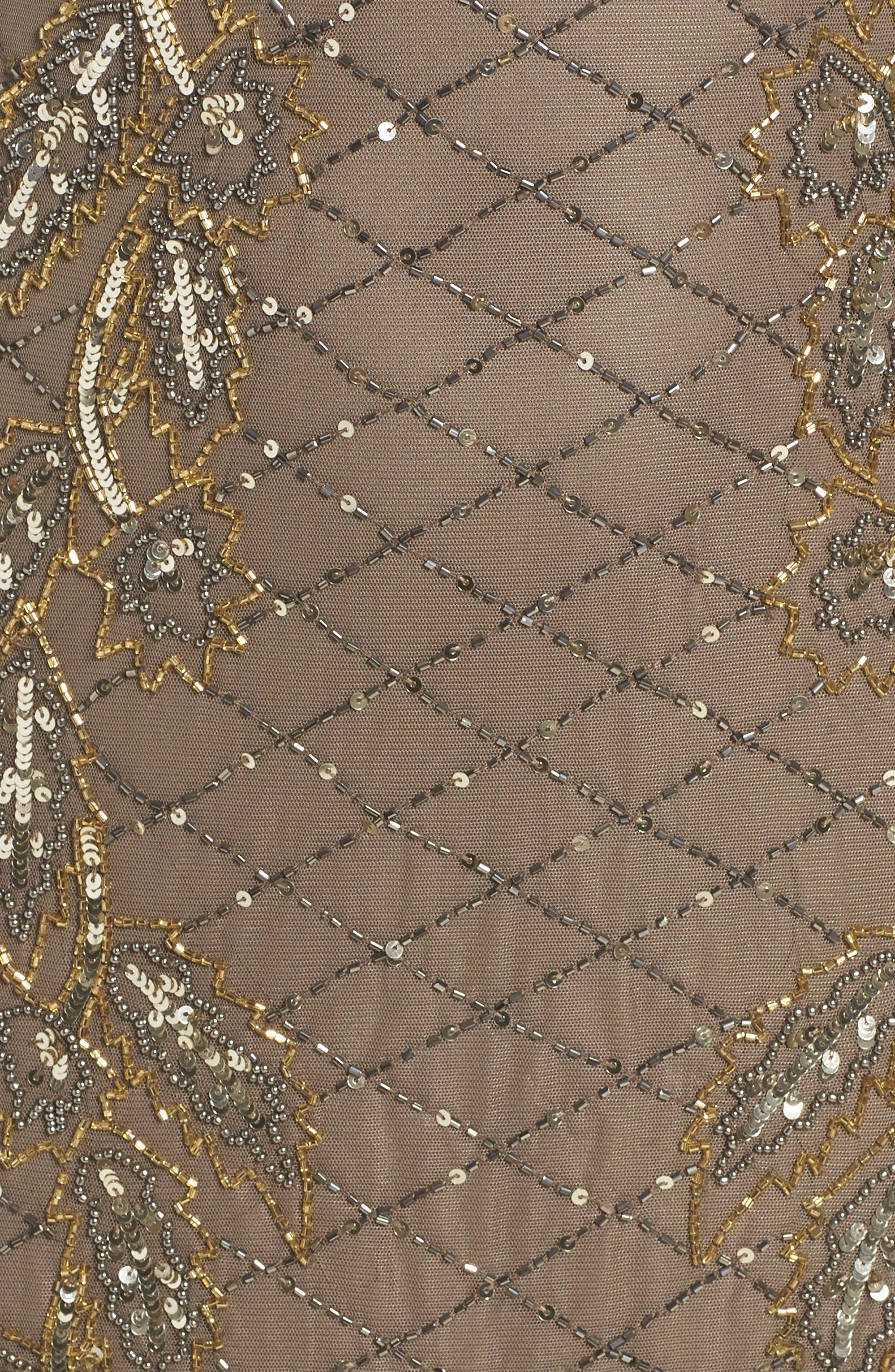 Alternate Image 5  - Pisarro Nights Flame Motif Embellished Gown (Regular & Petite)