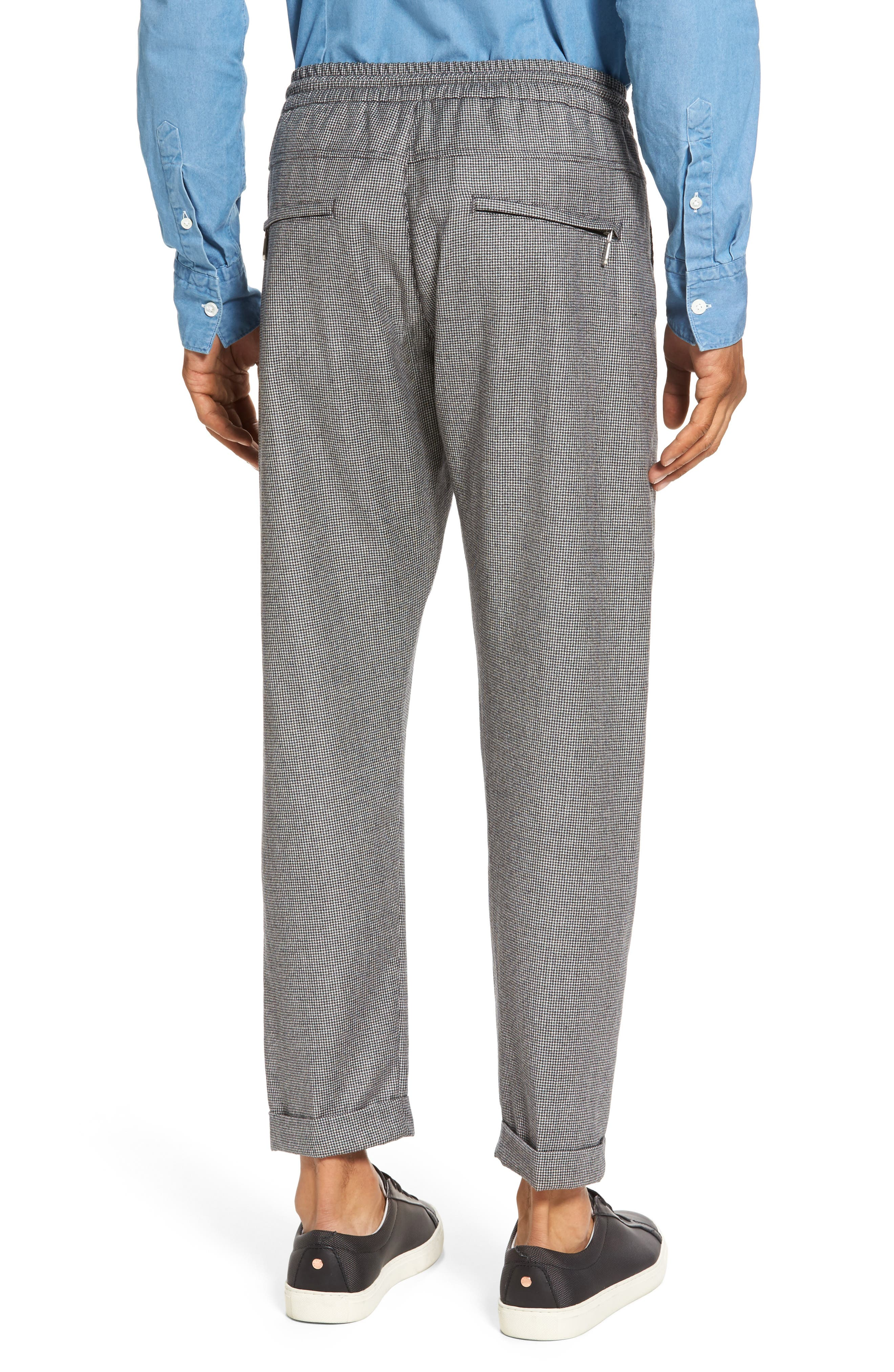 Alternate Image 2  - Eleventy Houndstooth Wool Drawstring Jogger Pants