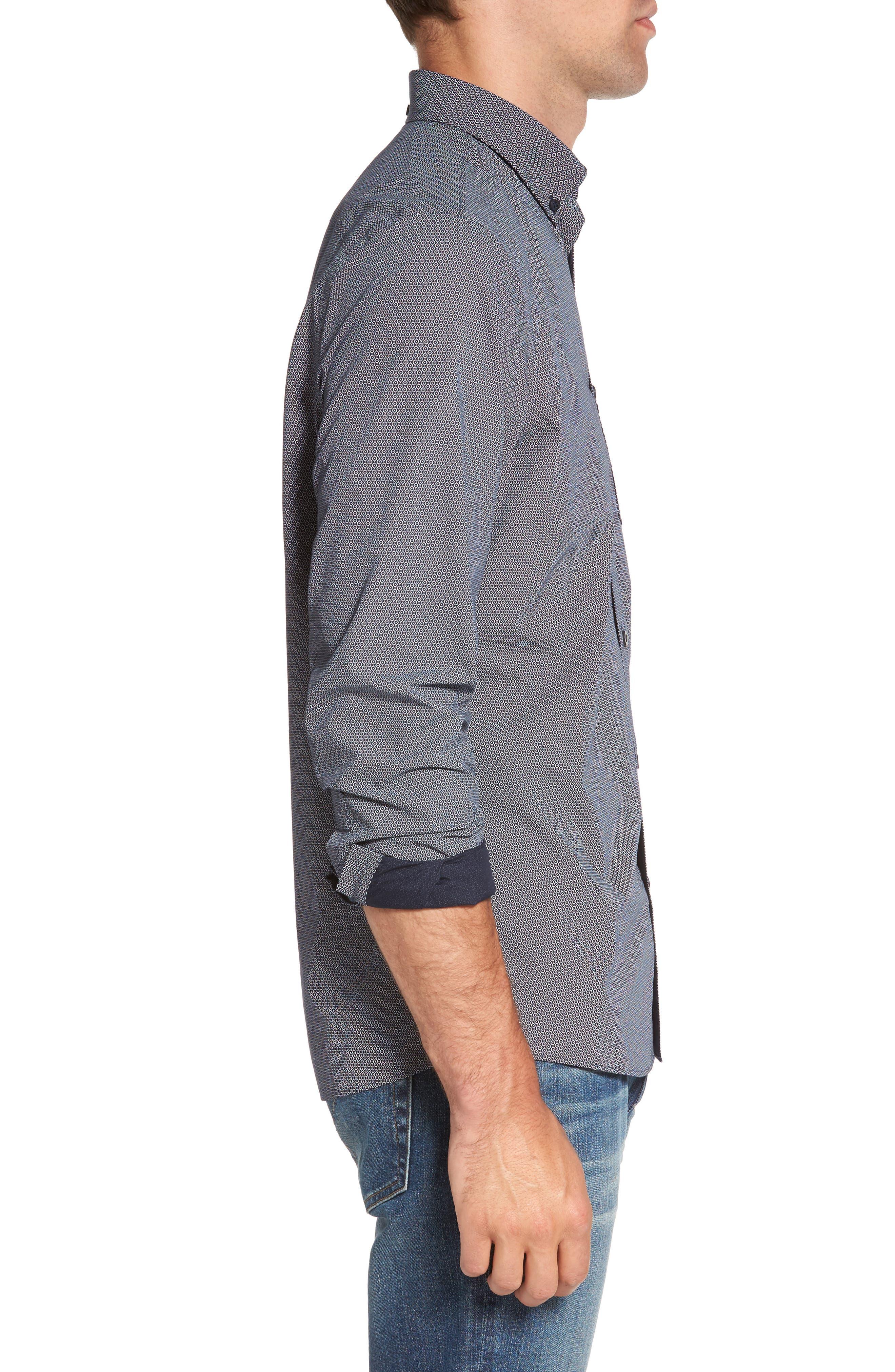Alternate Image 3  - Nordstrom Men's Shop Slim Fit Non-Iron Dot Print Sport Shirt