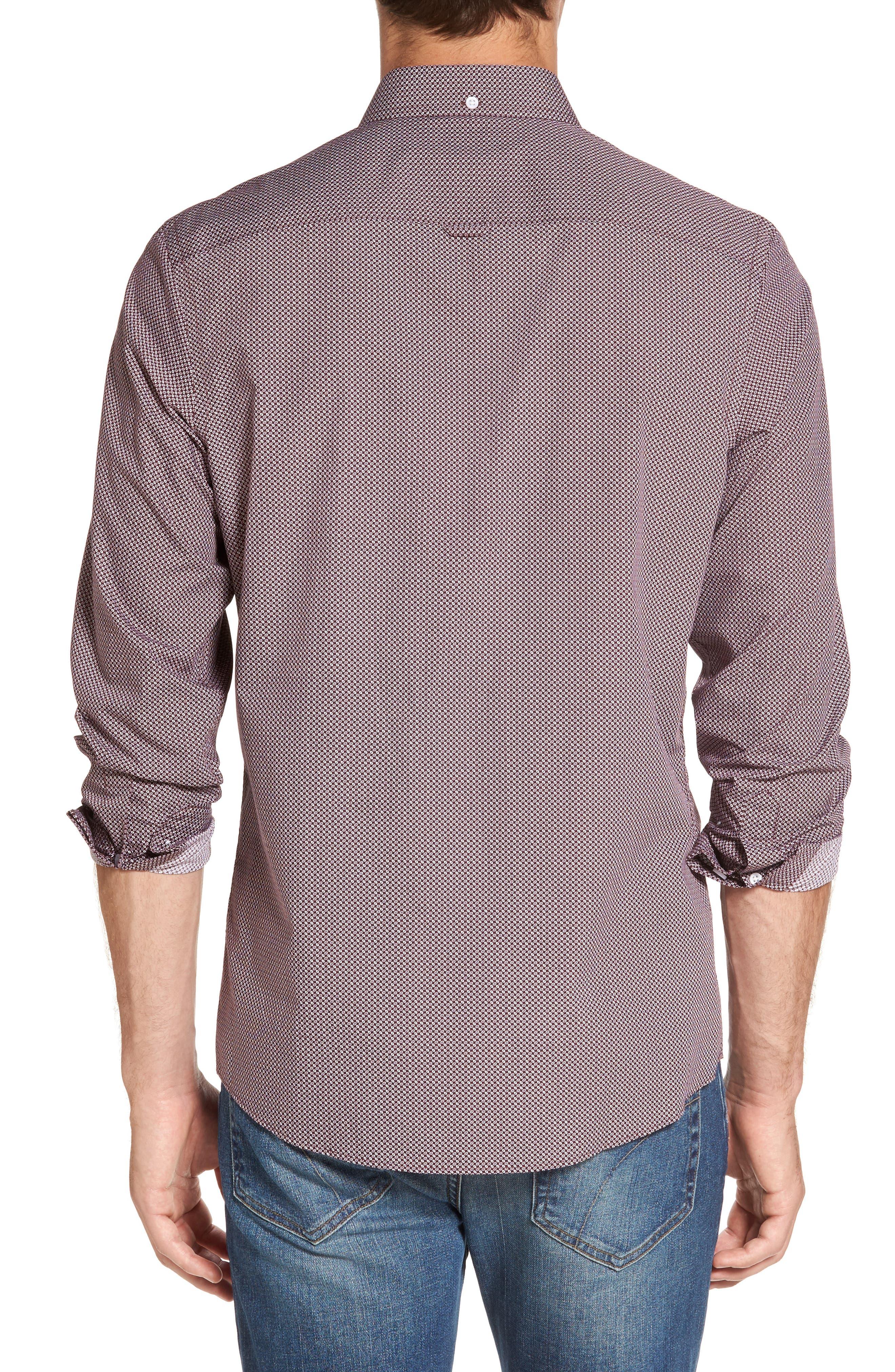 Alternate Image 2  - Nordstrom Men's Shop Trim Fit Non-Iron Spade Print Sport Shirt (Regular & Tall)