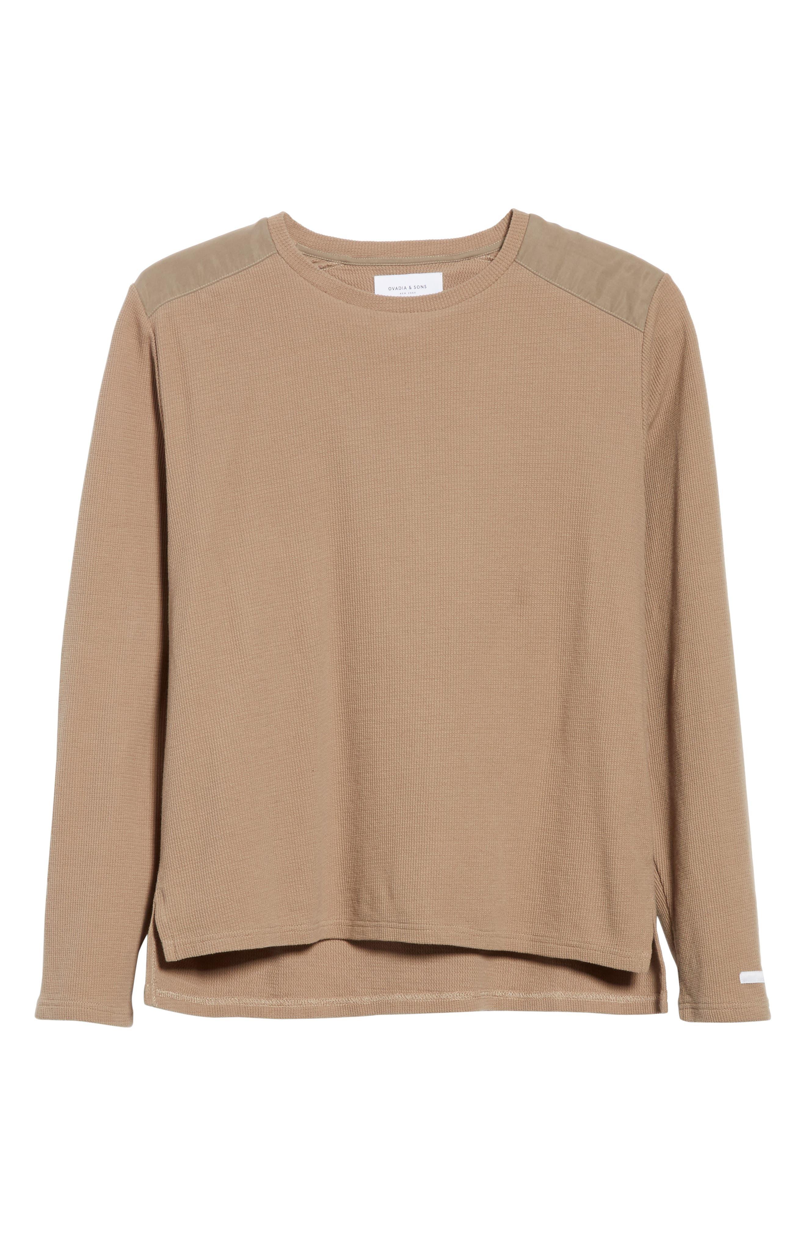 Crewneck Sweater,                             Alternate thumbnail 6, color,                             Mushroom