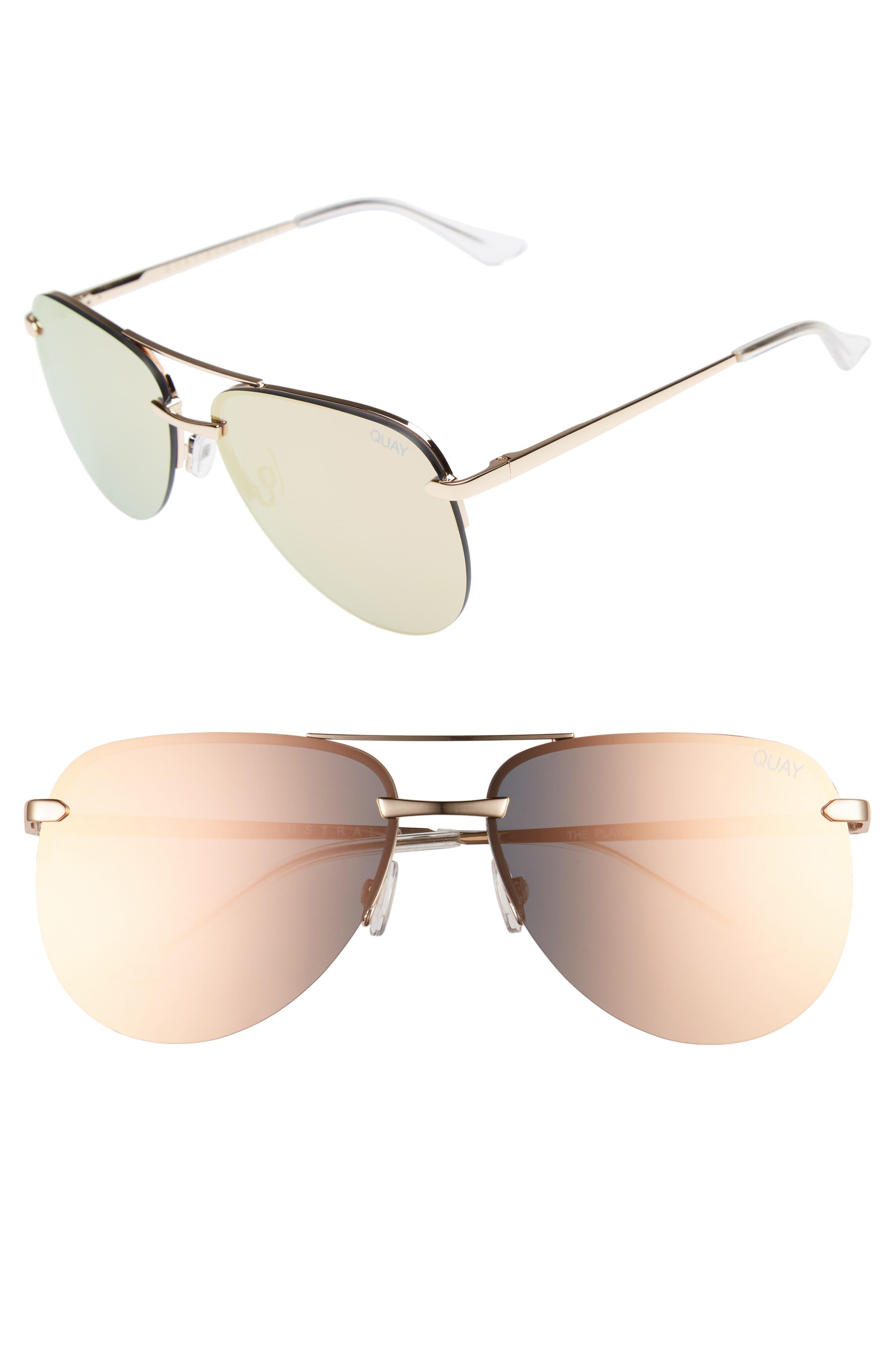 Alternate Image 1 Selected - Quay Australia The Playa 64mm Aviator Sunglasses