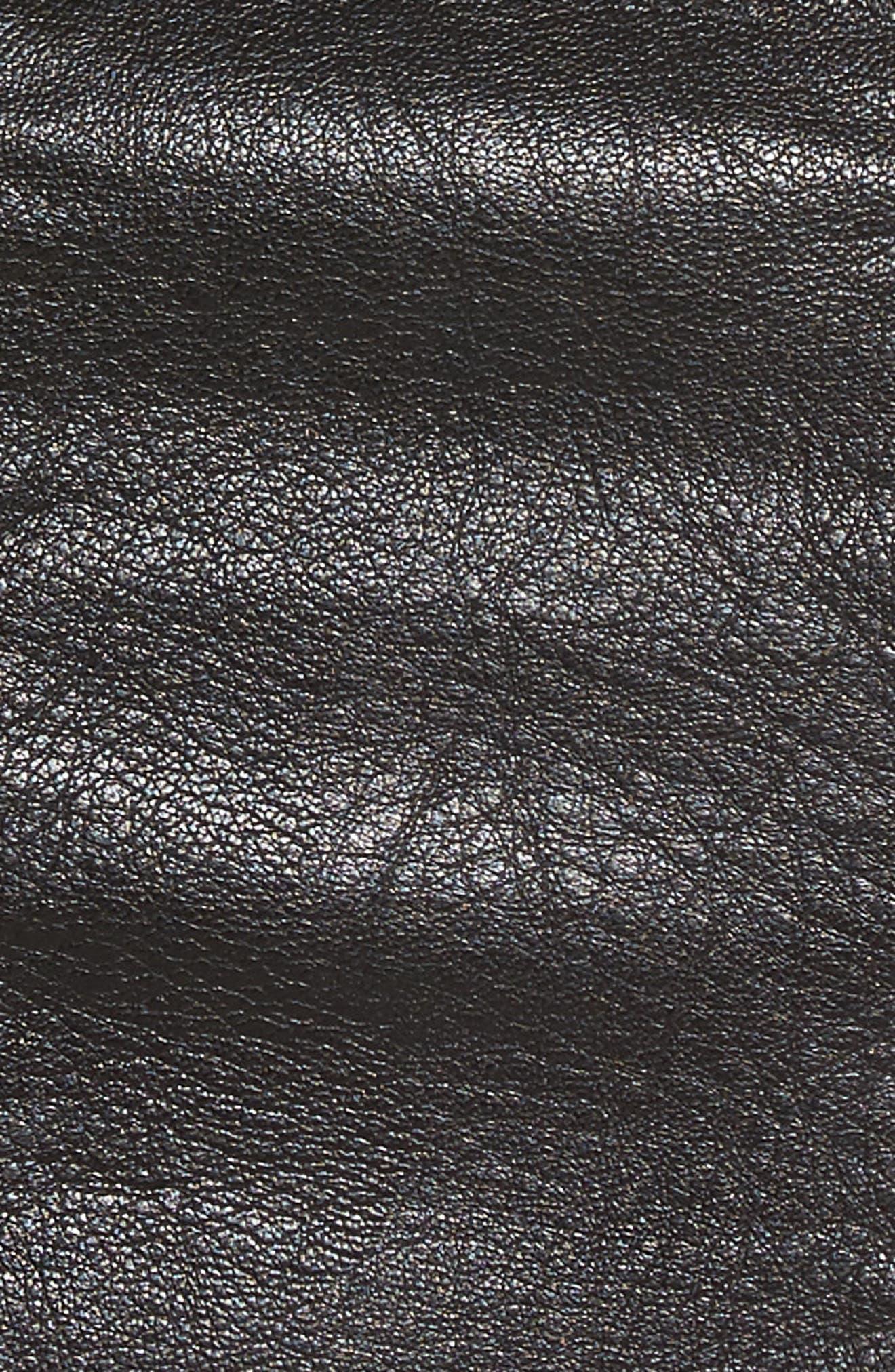 High Waist Zip Miniskirt,                             Alternate thumbnail 6, color,                             True Black