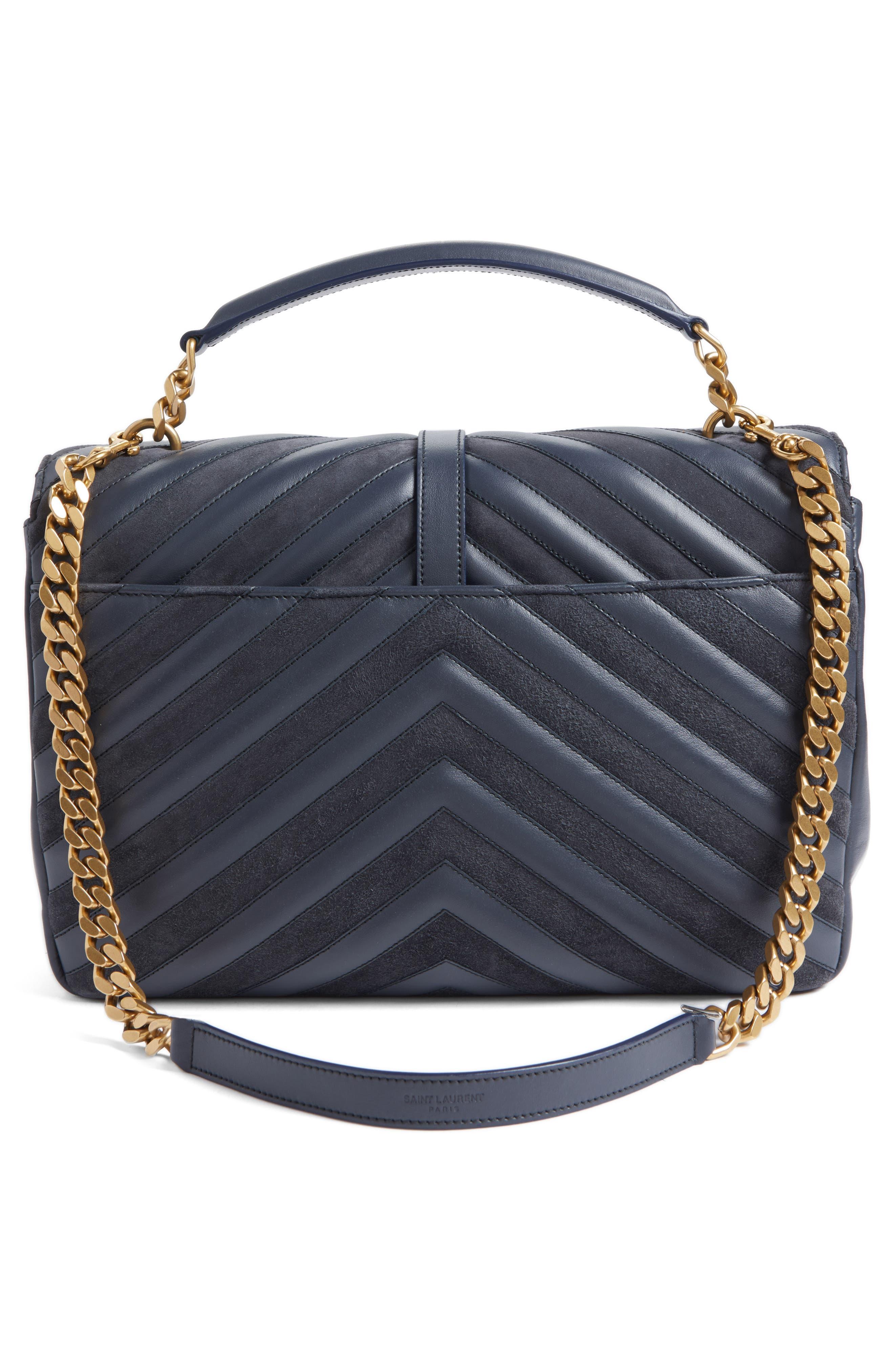 Alternate Image 3  - Saint Laurent Medium College Patchwork Suede & Leather Shoulder Bag