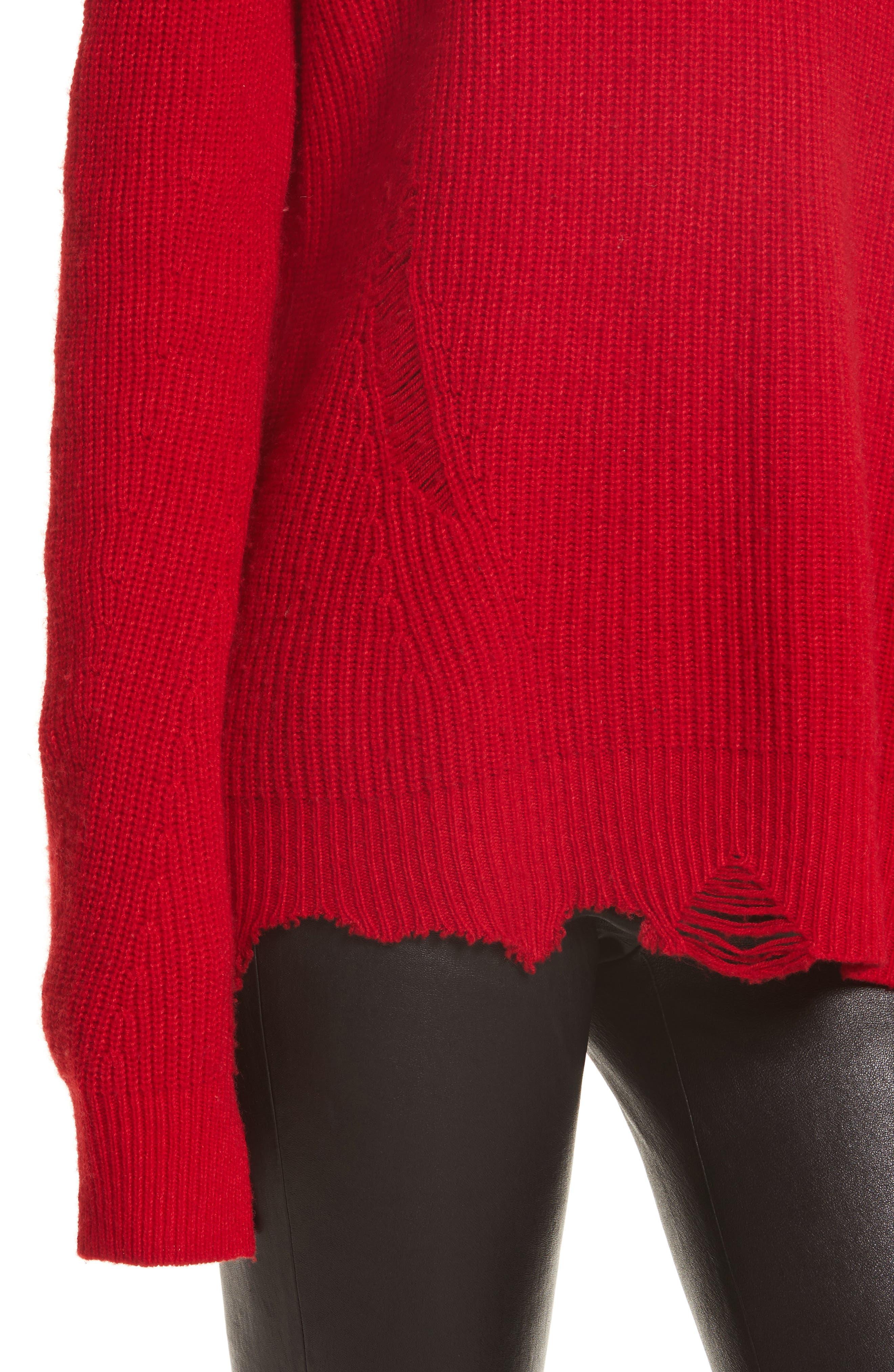 Alternate Image 5  - Helmut Lang Distressed Sweater