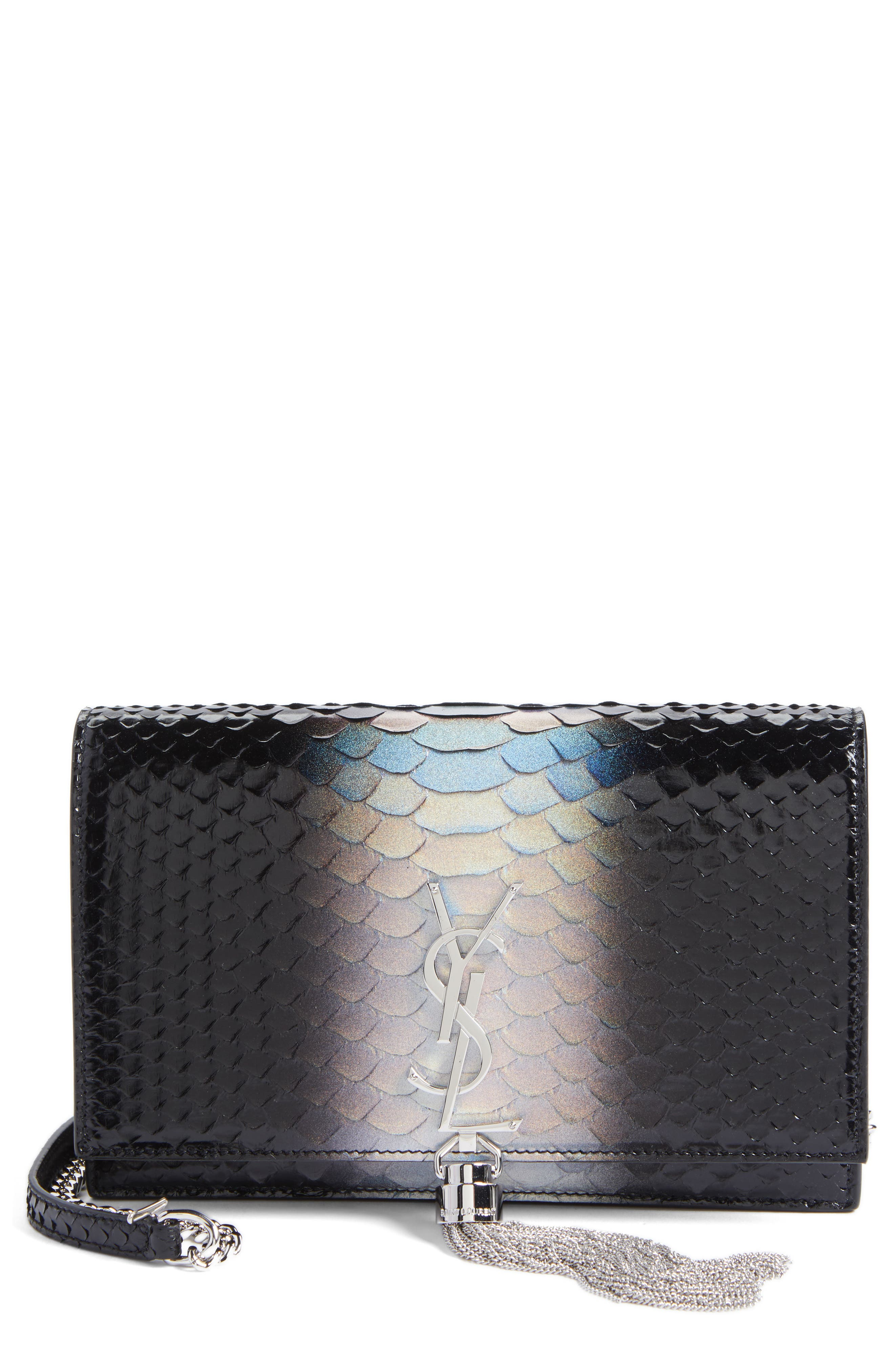 Saint Laurent Kate Dégradé Genuine Python Crossbody Bag