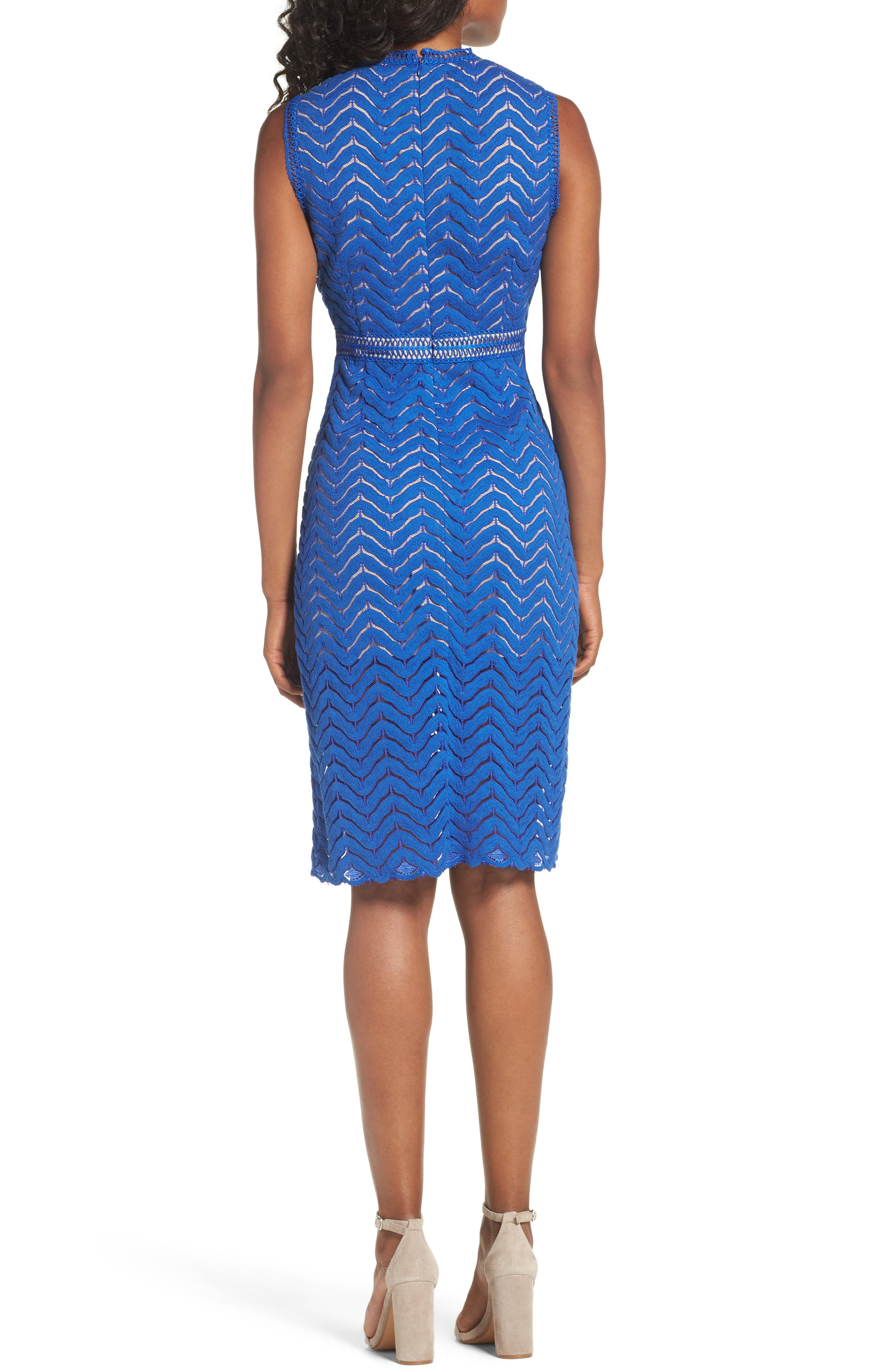 Alternate Image 2  - Chelsea28 Lace Sheath Dress