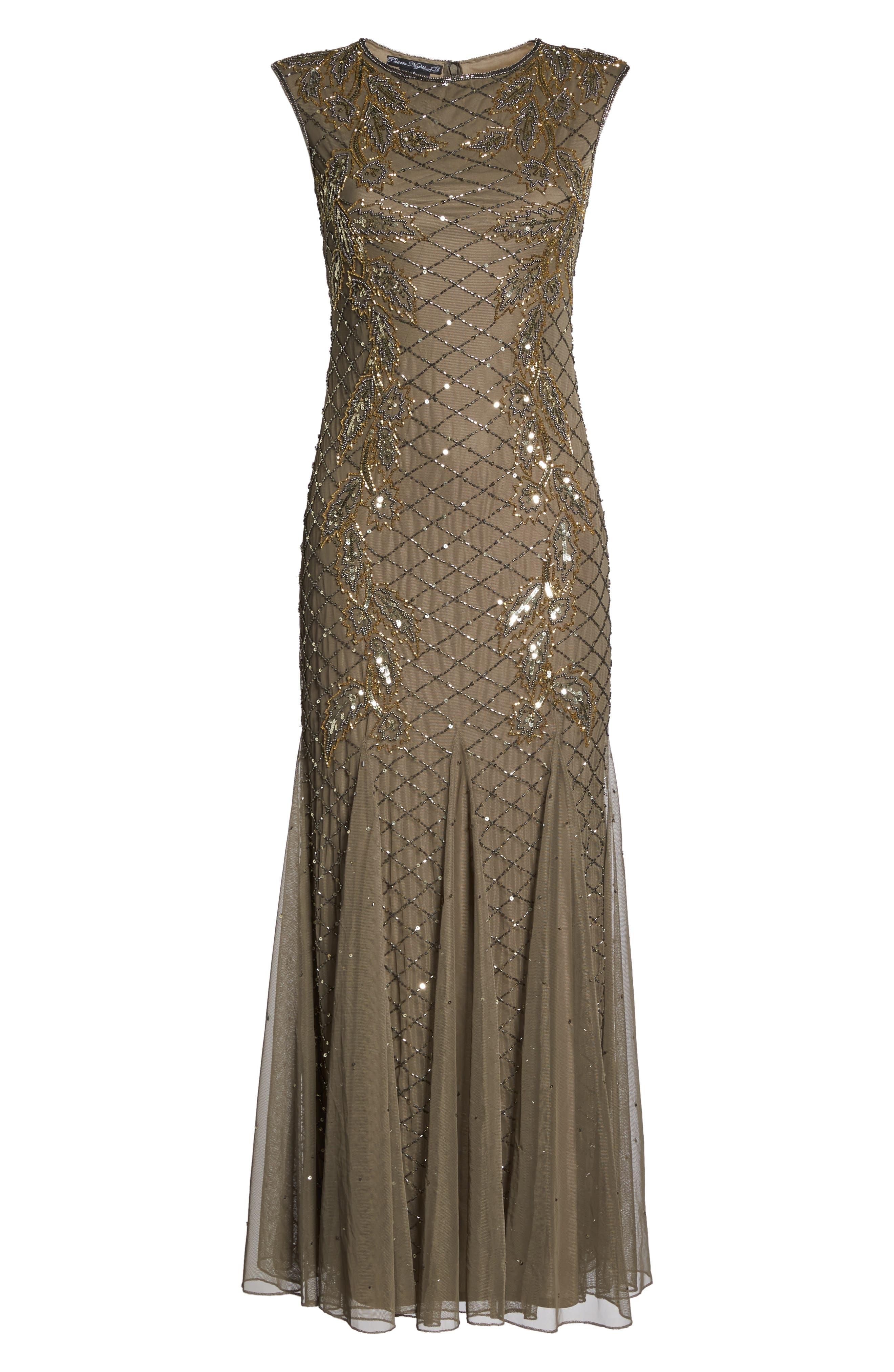 Alternate Image 6  - Pisarro Nights Flame Motif Embellished Gown (Regular & Petite)