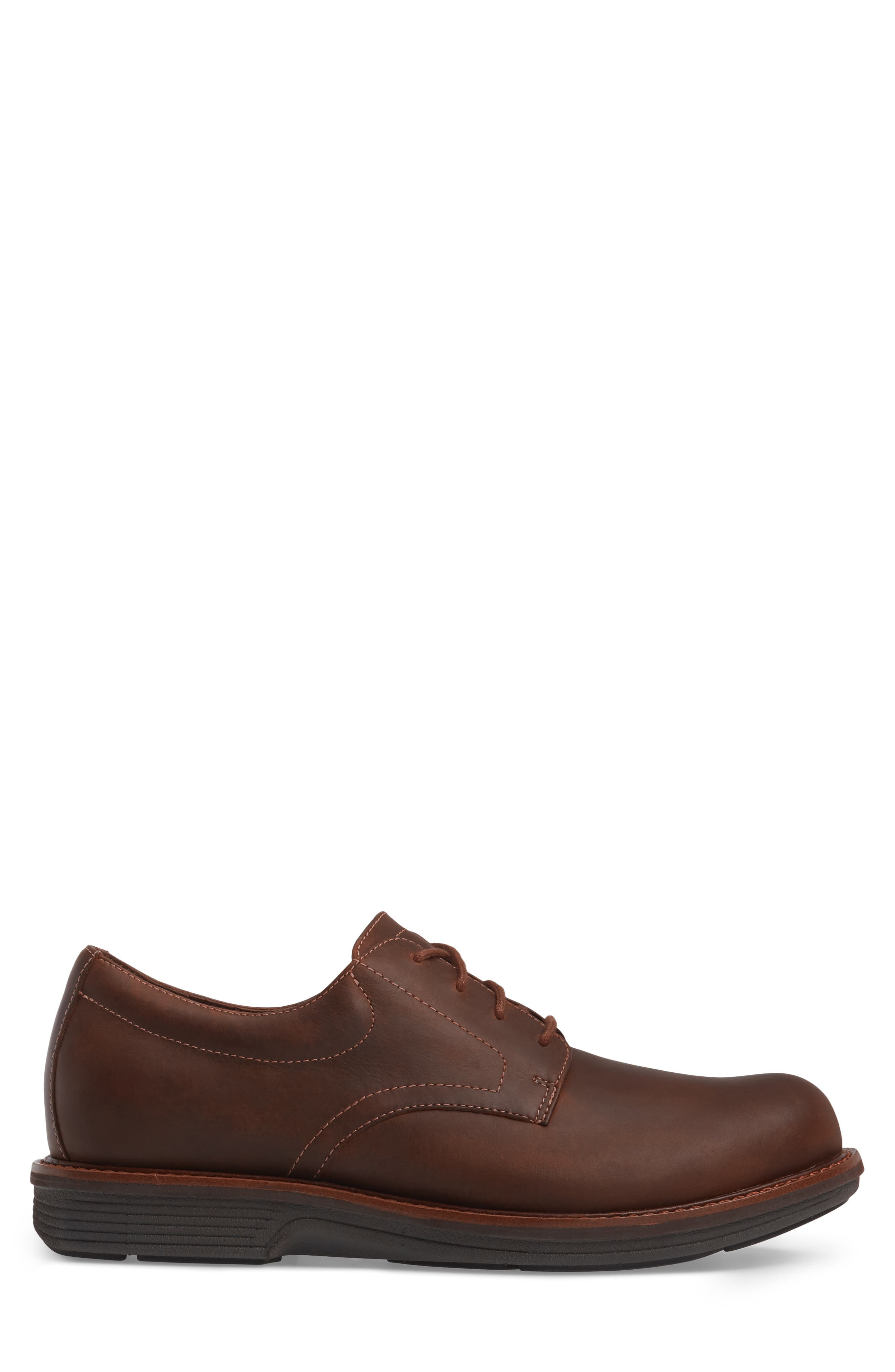 'Josh' Plain Toe Derby,                             Alternate thumbnail 3, color,                             Brown Pull-Up Leather