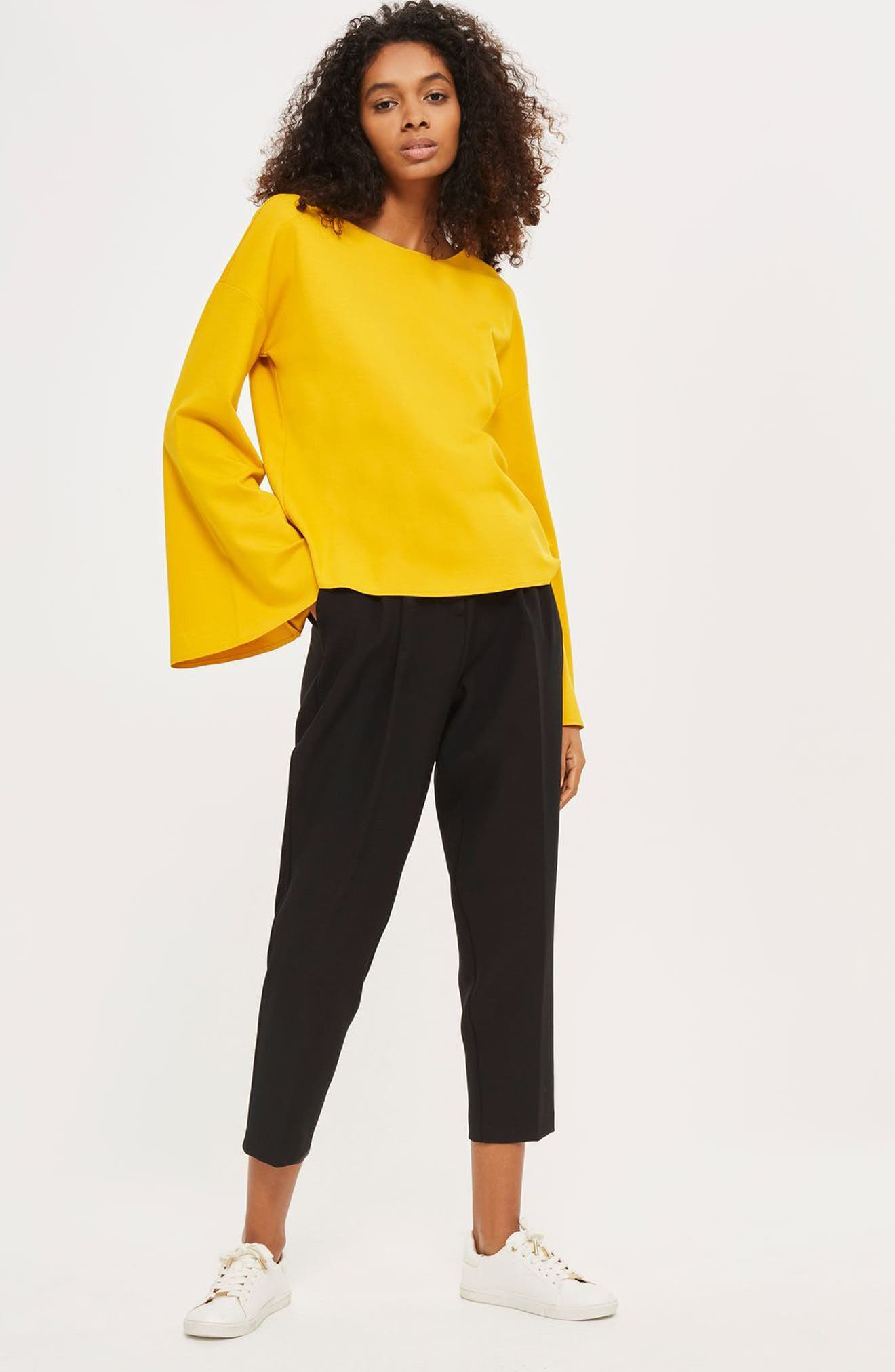 Alternate Image 2  - Topshop Split Back Bell Sleeve Sweatshirt