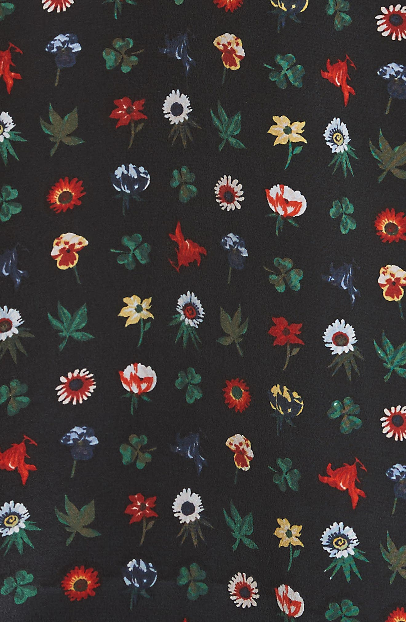 Alternate Image 5  - Equipment Aurora Tie Sleeve Floral Silk Blouse