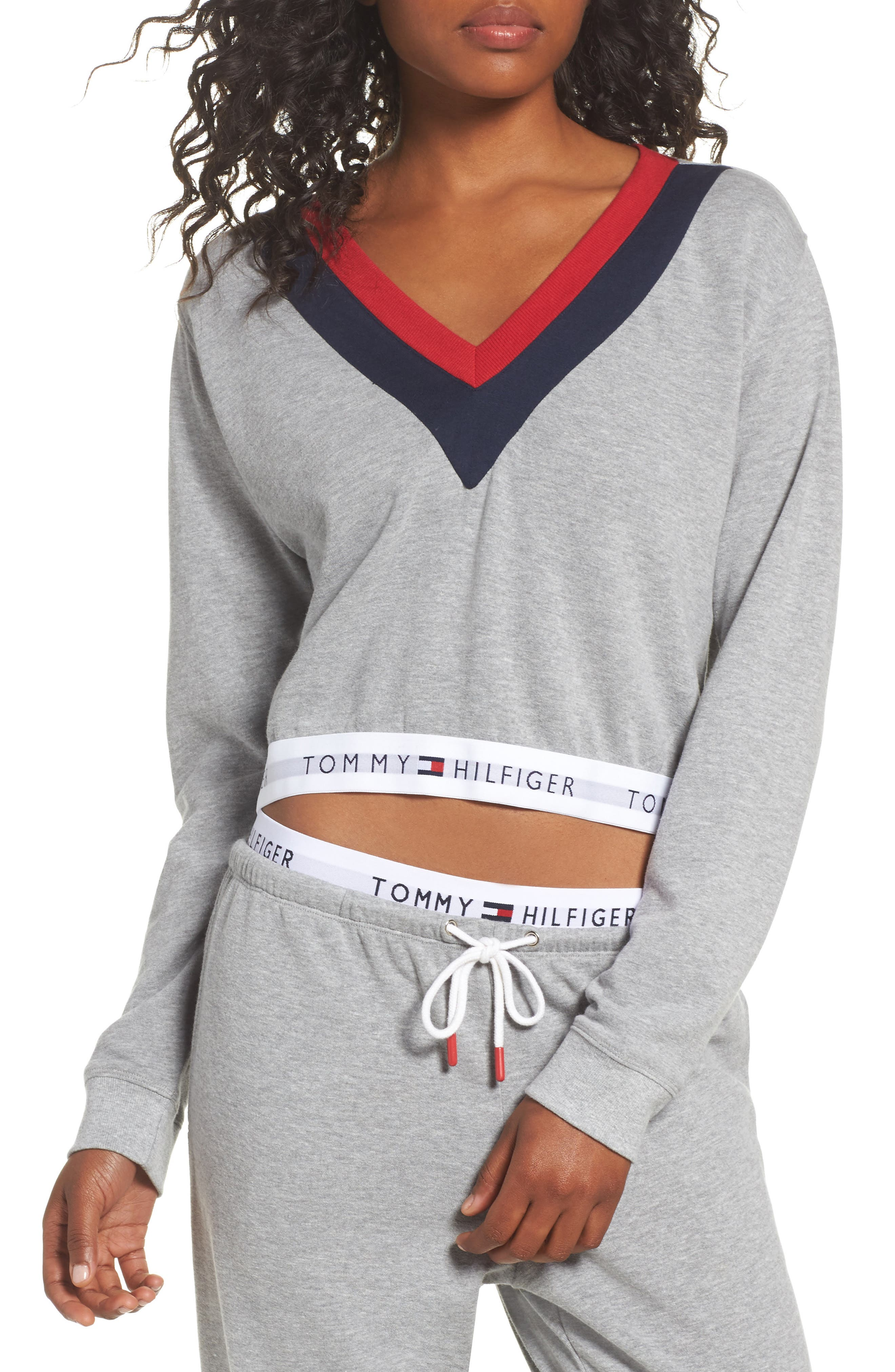 Alternate Image 1 Selected - Tommy Hilfiger TH Retro Crop Top