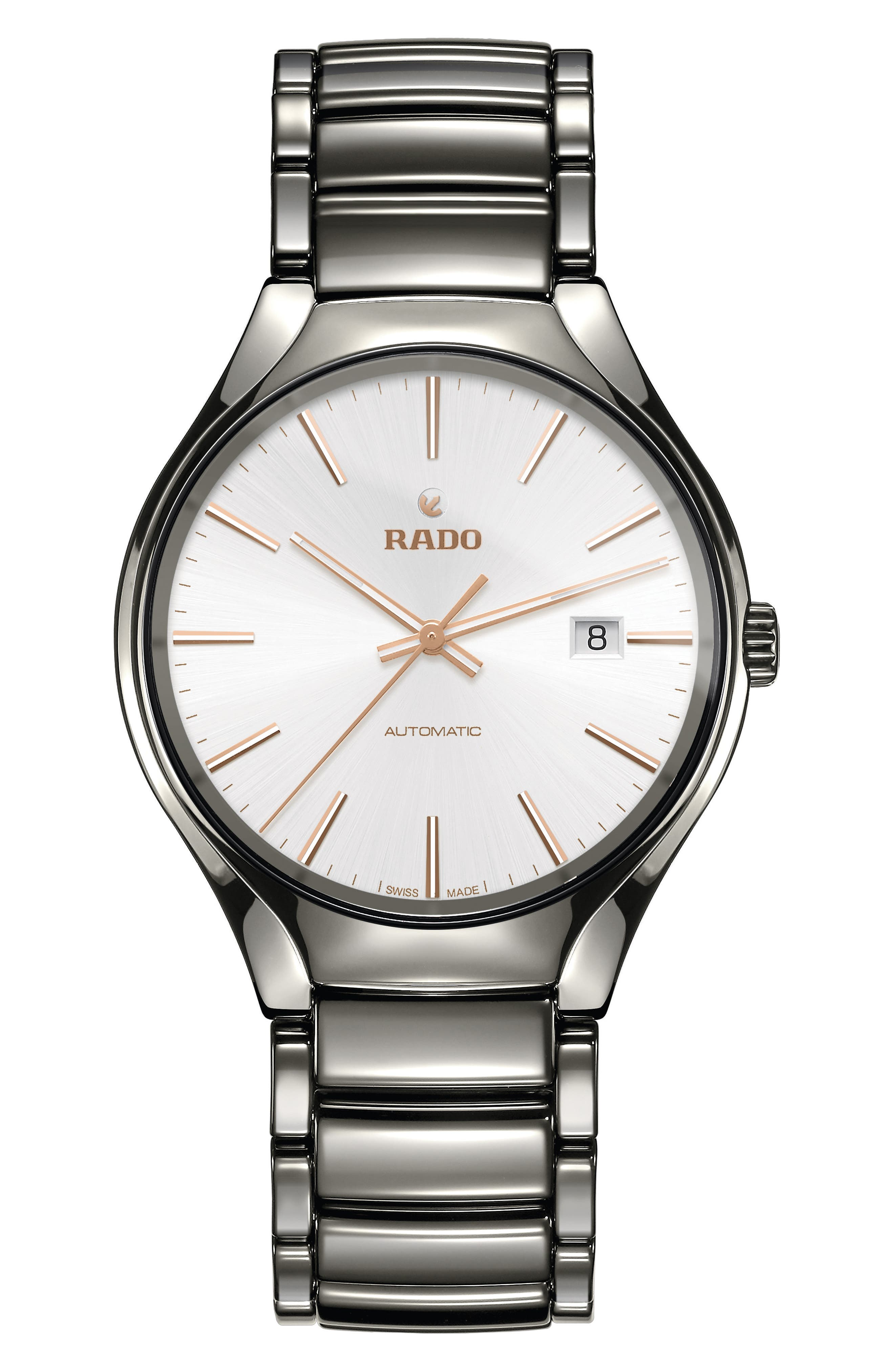 Alternate Image 1 Selected - RADO True Automatic Ceramic Bracelet Watch, 40mm