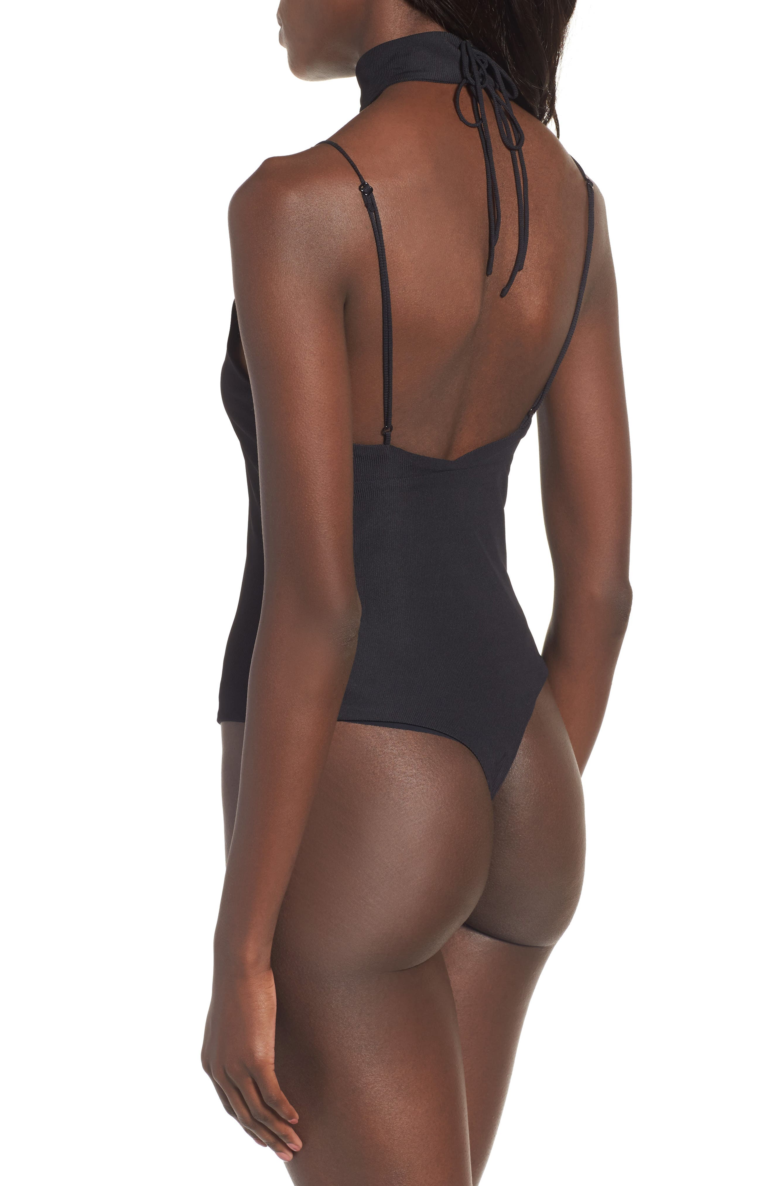 Alternate Image 2  - AFRM Poppy Thong Bodysuit with Choker