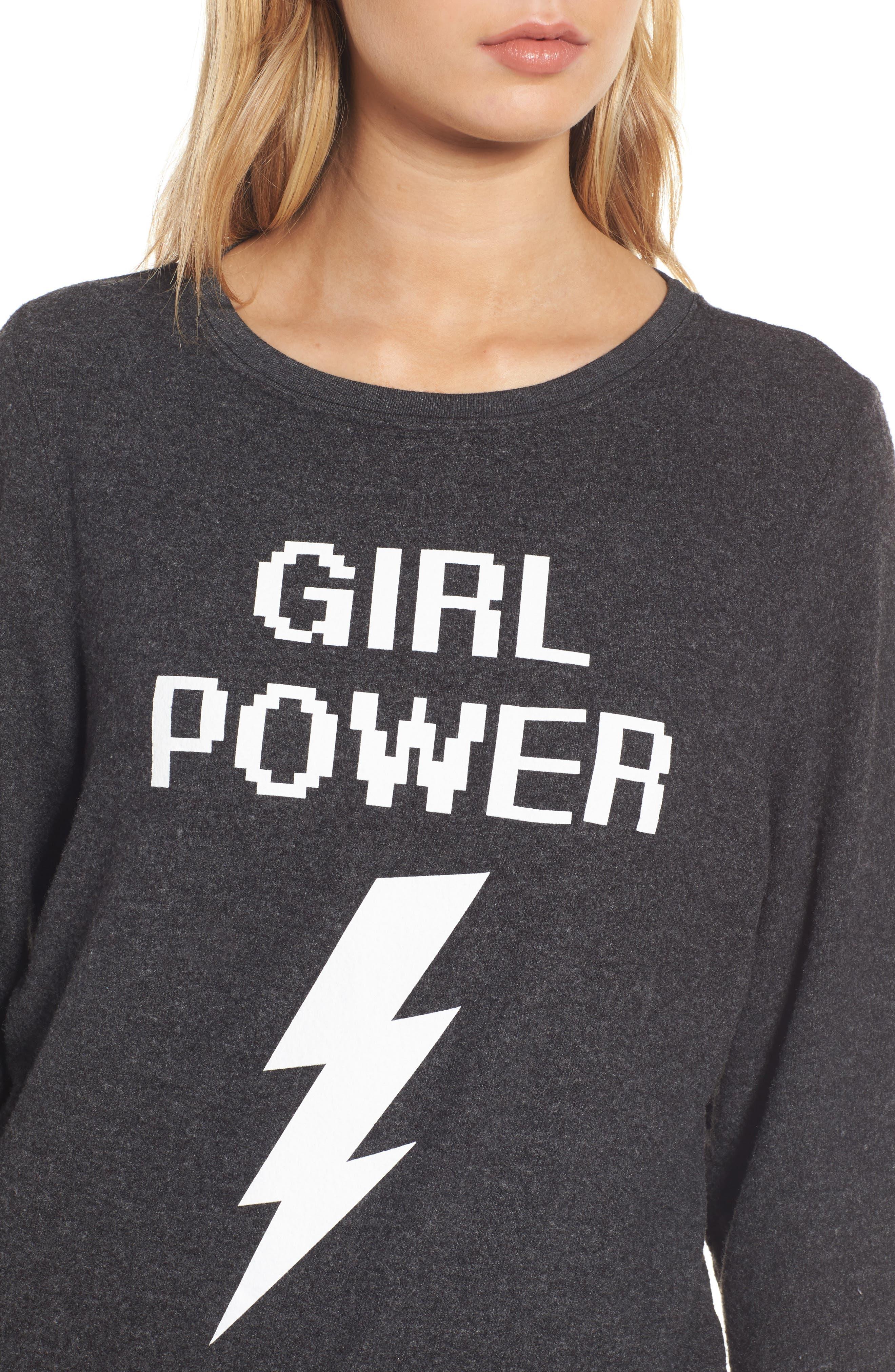 Alternate Image 4  - Dream Scene Girl Power Sweatshirt
