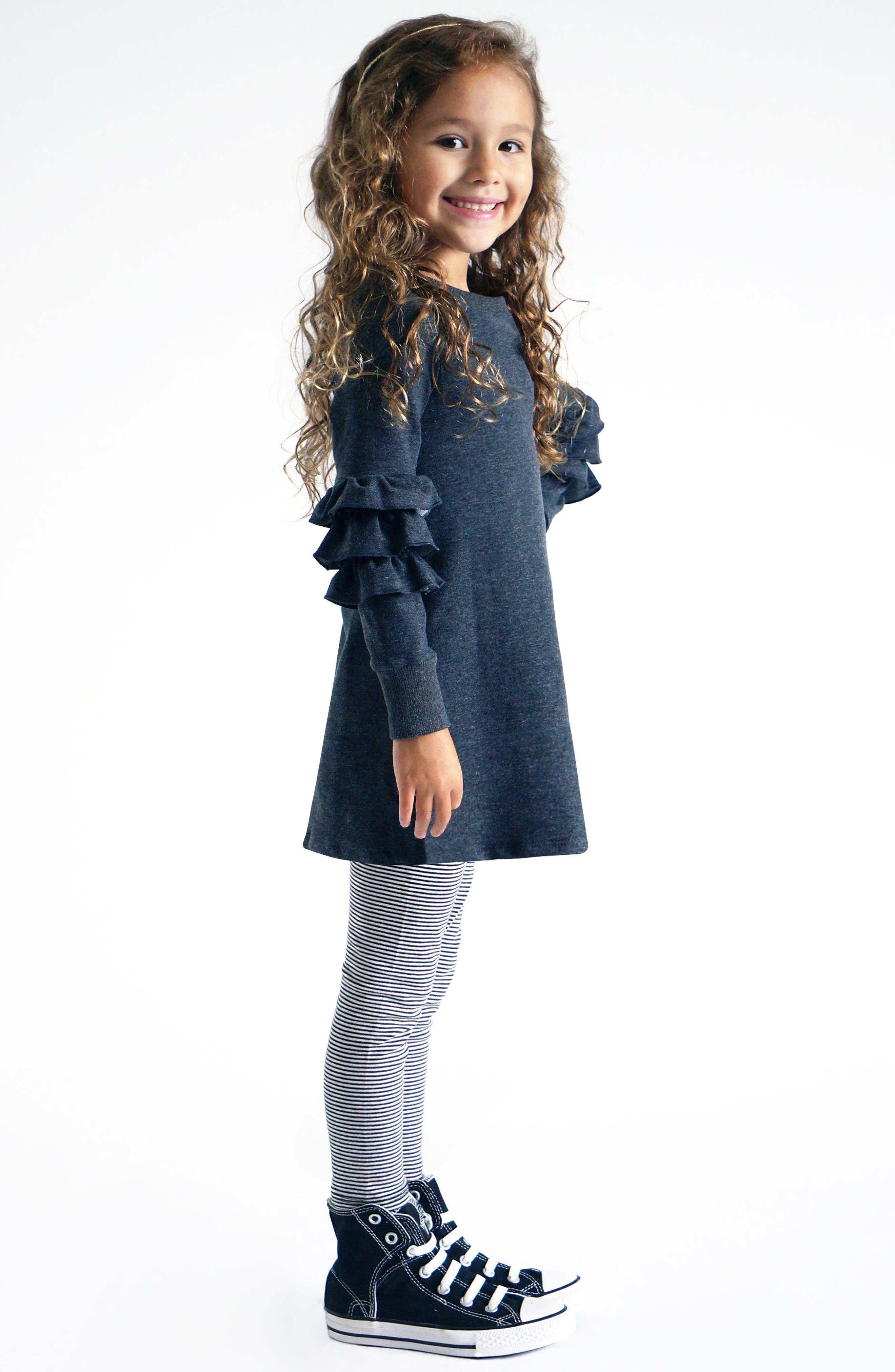 Alternate Image 3  - Truly Me Ruffle Sleeve Sweatshirt (Toddler Girls & Little Girls)
