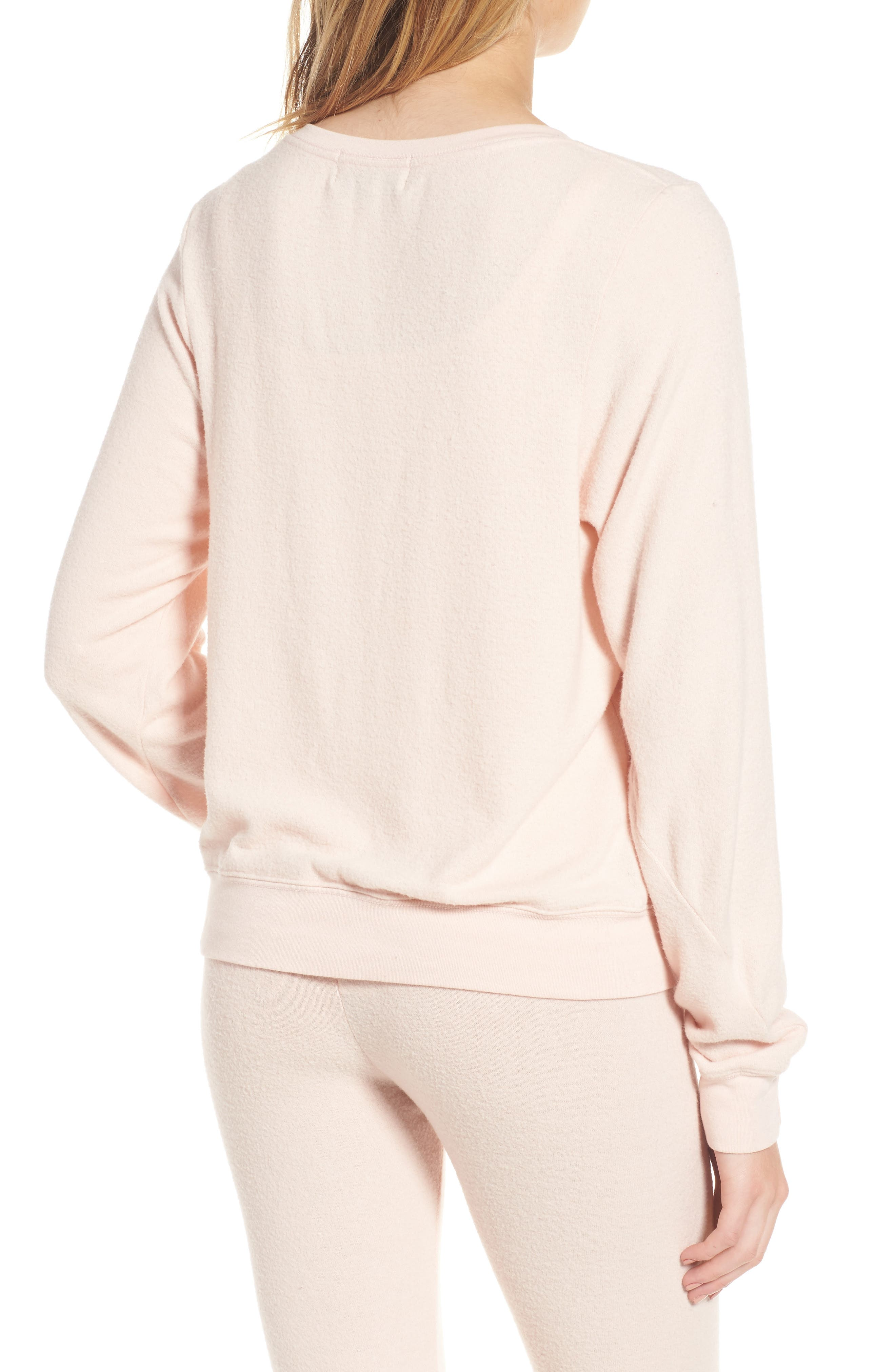 Rosé All Day Sweatshirt,                             Alternate thumbnail 2, color,                             Rose