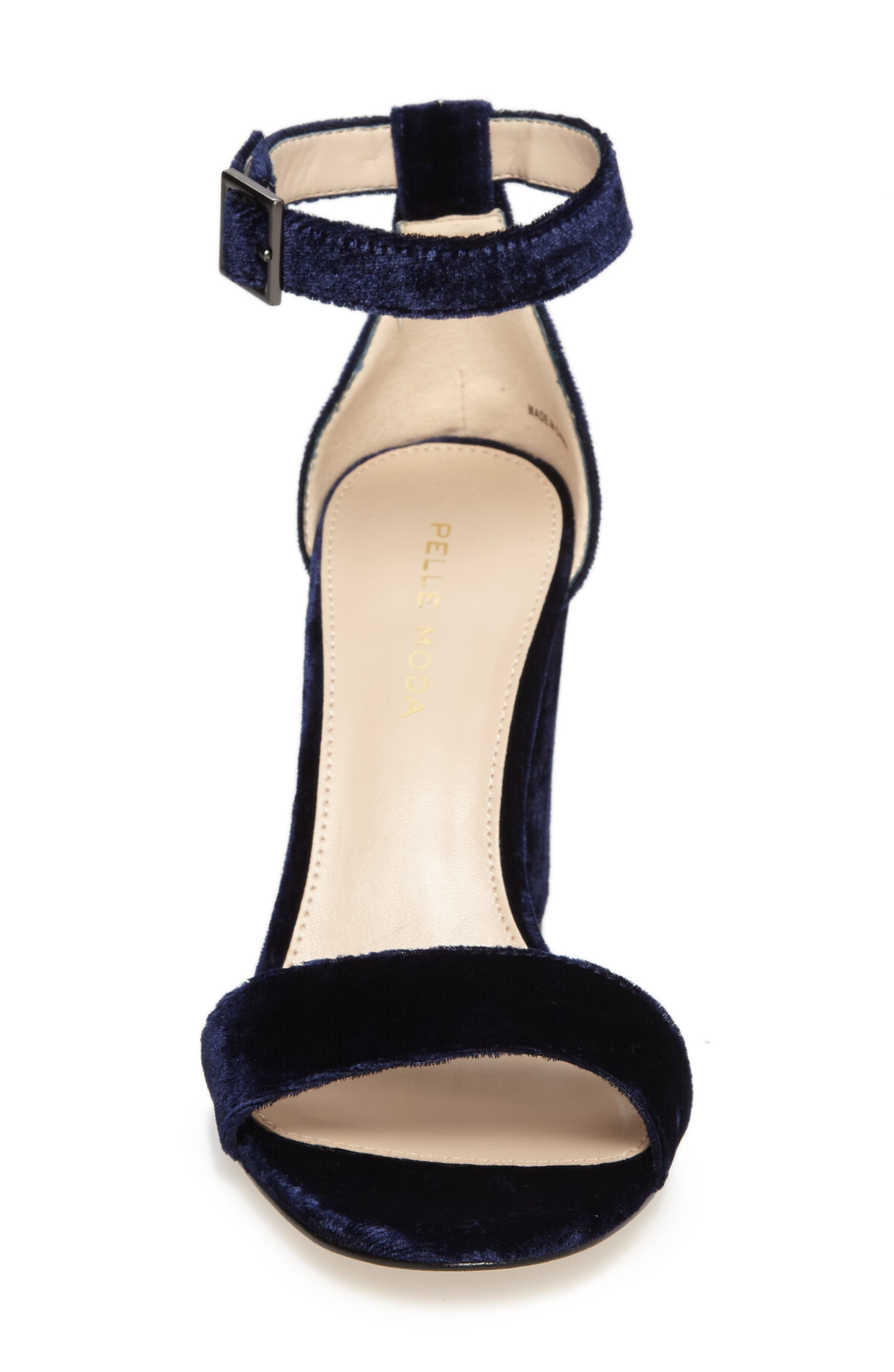 Bonnie Ankle Strap Sandal,                             Alternate thumbnail 4, color,                             Midnight