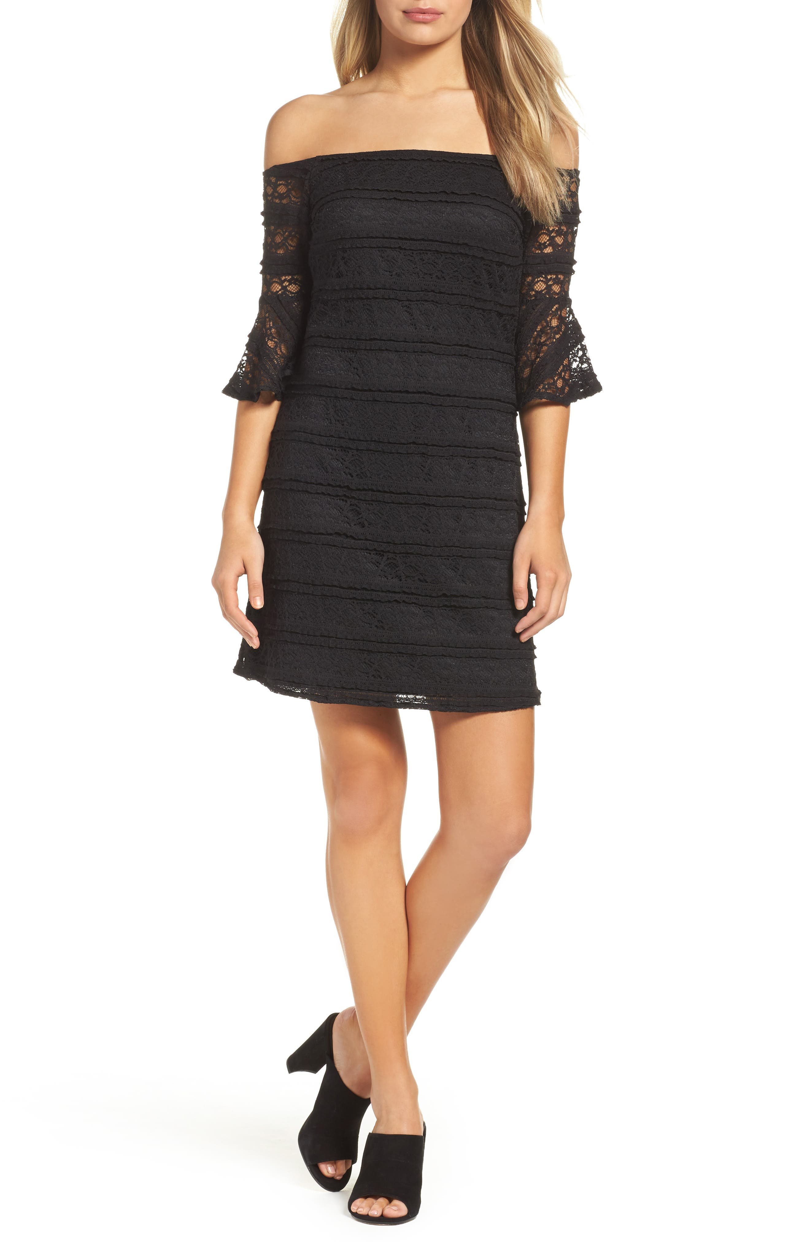 NSR Off the Shoulder Lace Dress