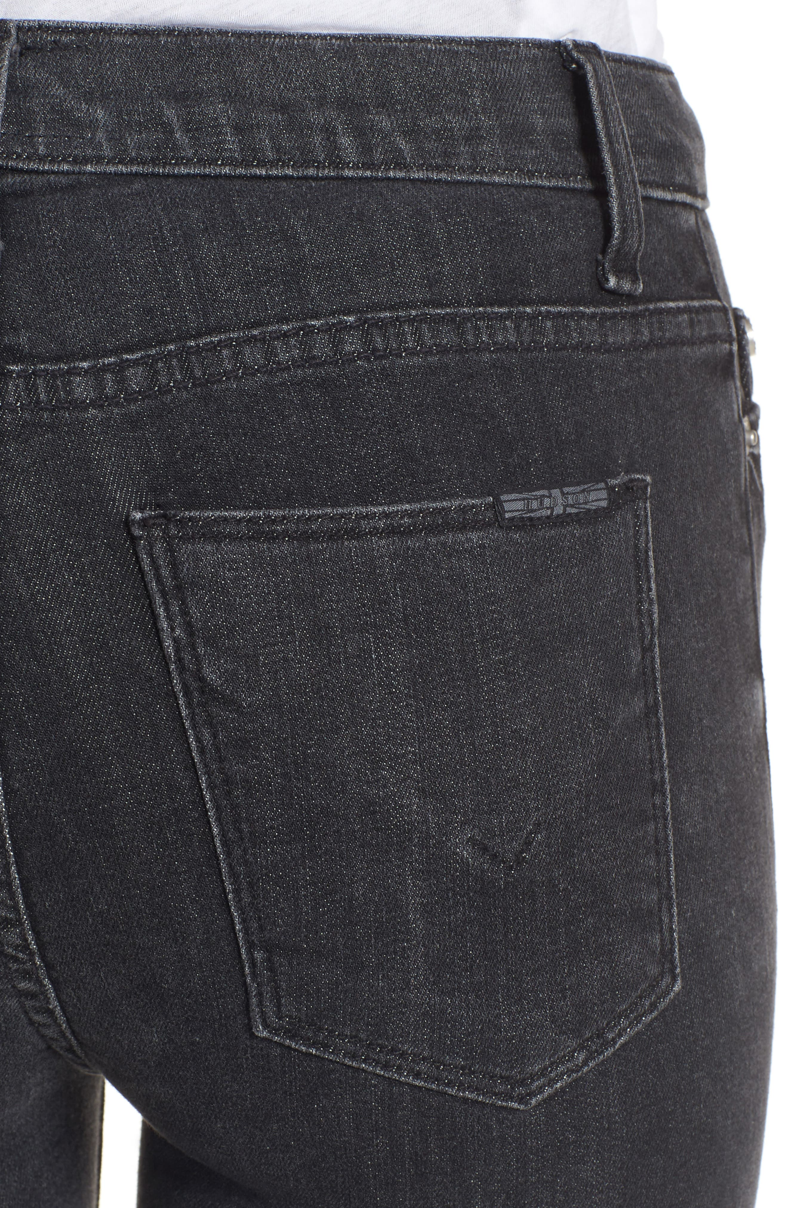 Hudson Barbara High Waist Super Skinny Jeans,                             Alternate thumbnail 4, color,                             Disarm