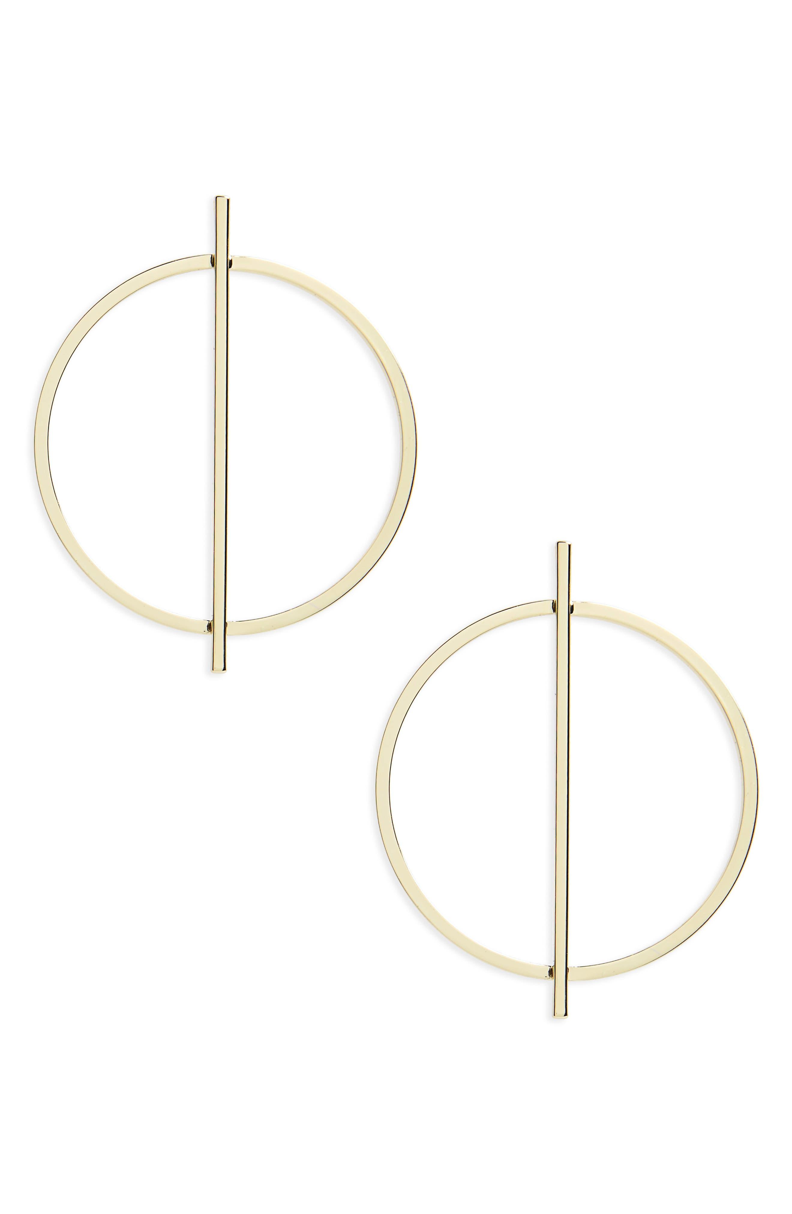 SHASHI Linear Hoop Earrings