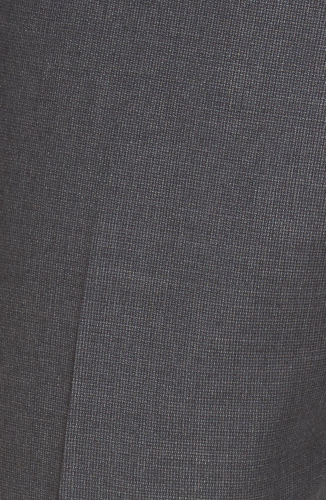 Alternate Image 5  - Nordstrom Men's Shop Flat Front Solid Wool Suit Trousers