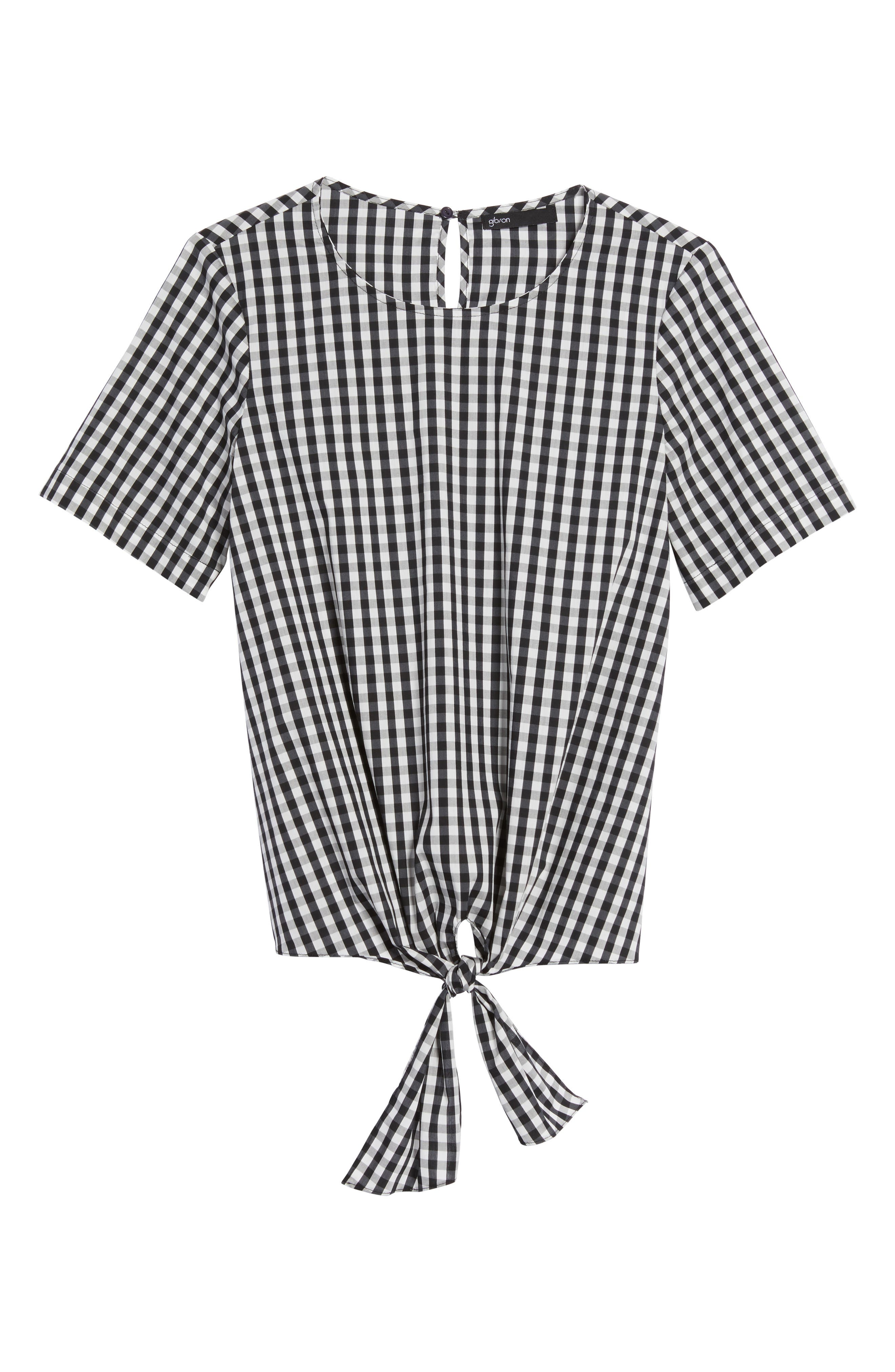 Alternate Image 6  - Gibson Cotton Tie Front Top
