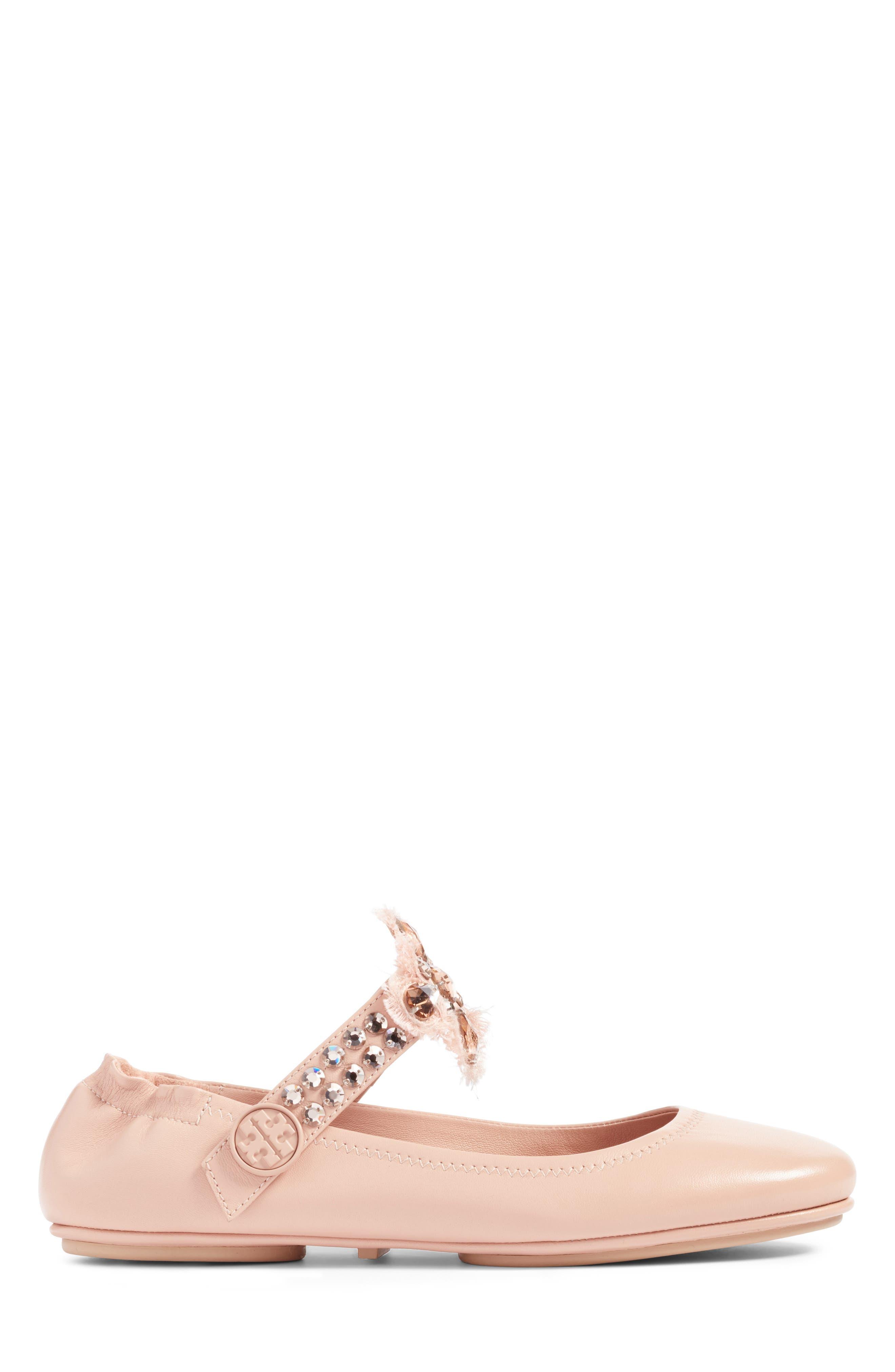 Alternate Image 3  - Tory Burch Minnie Embellished Convertible Strap Ballet Flat (Women)