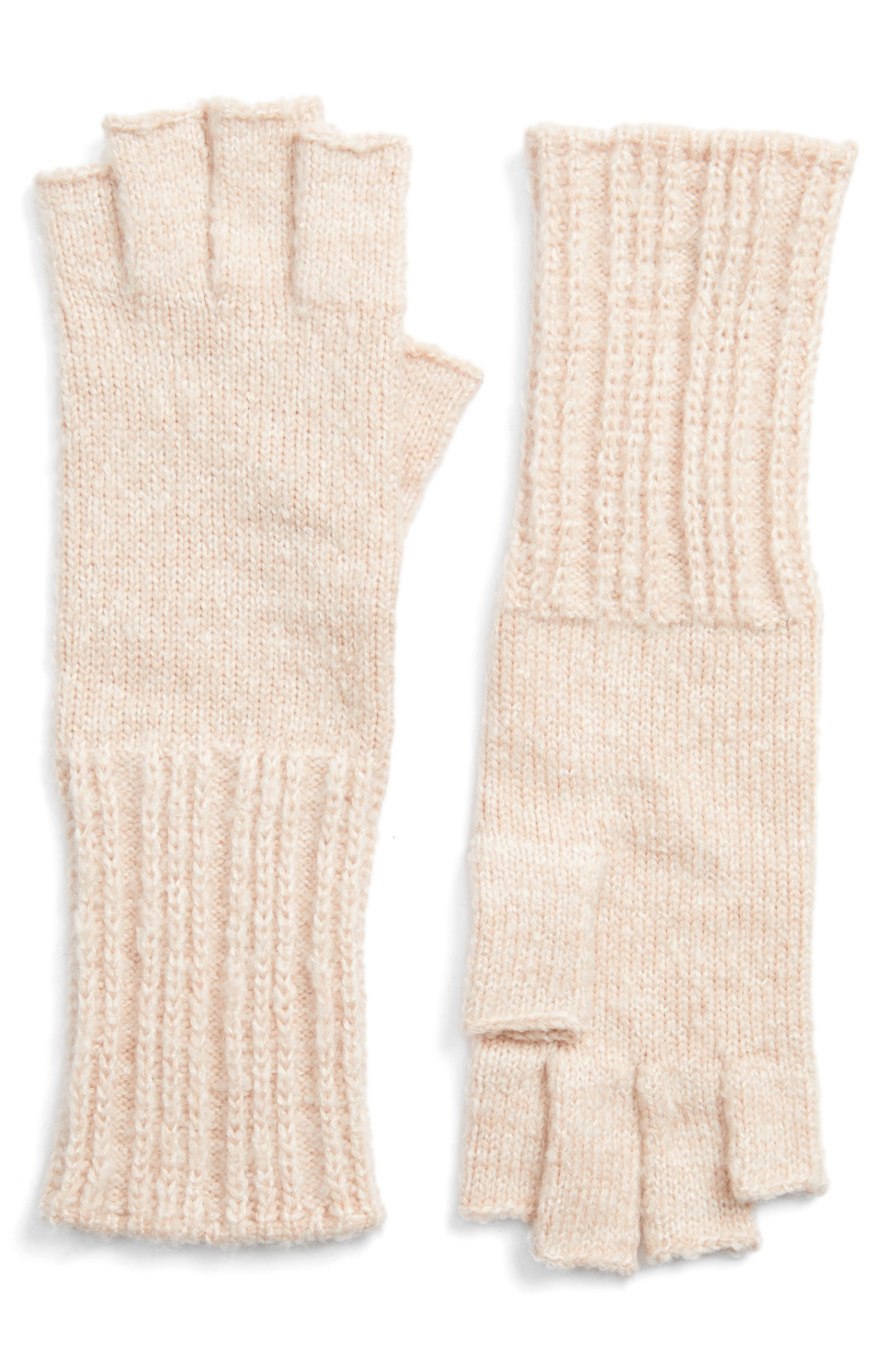 Halogen® Rib Knit Fingerless Gloves