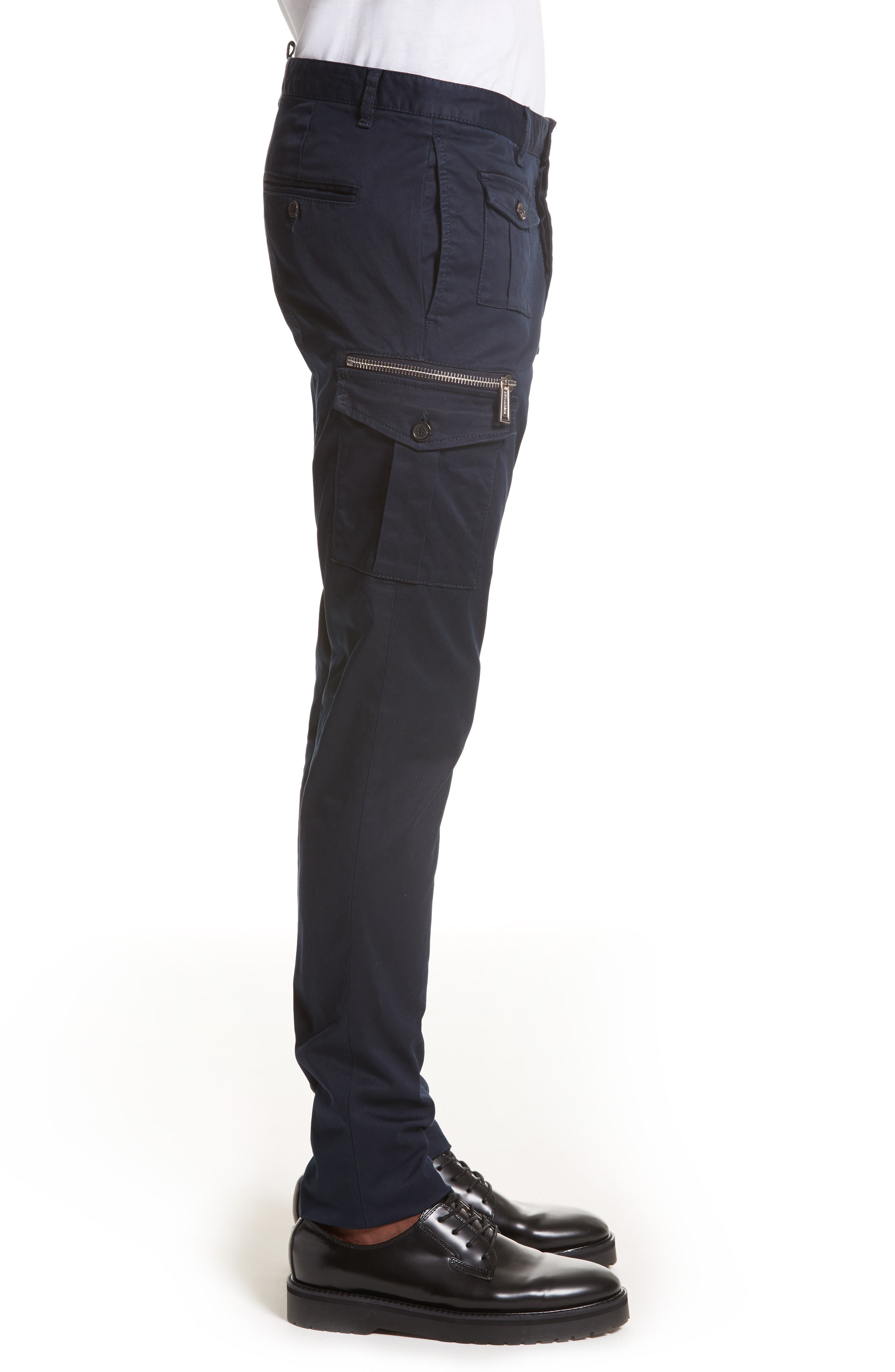 Cargo Pants,                             Alternate thumbnail 3, color,                             Navy