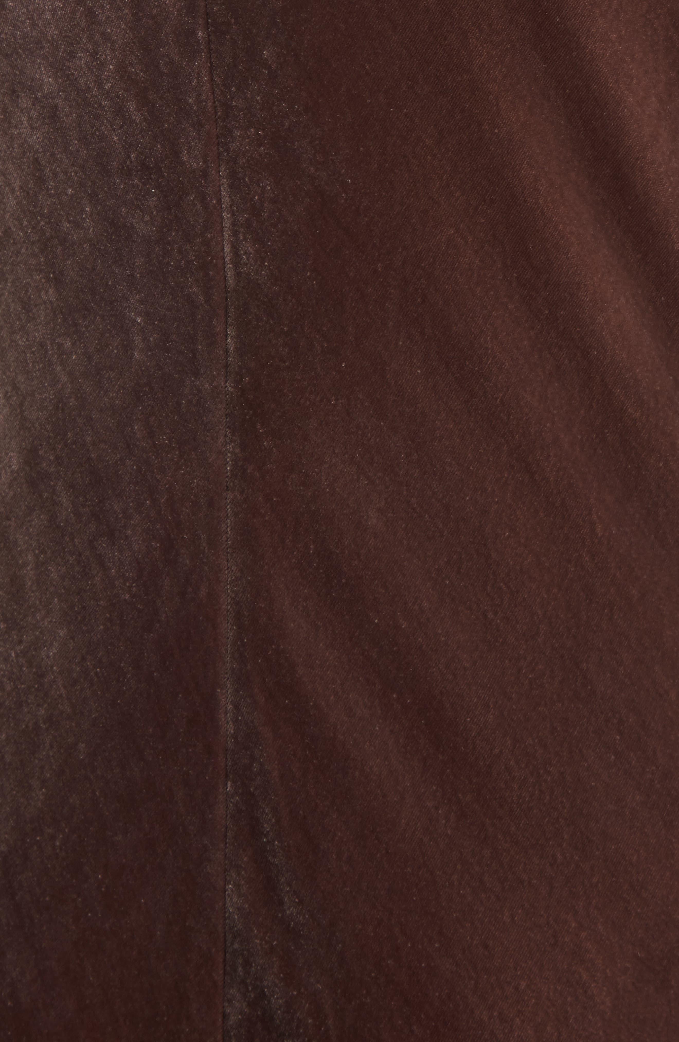 Velvet Tank Dress,                             Alternate thumbnail 5, color,                             Cocoa Bean