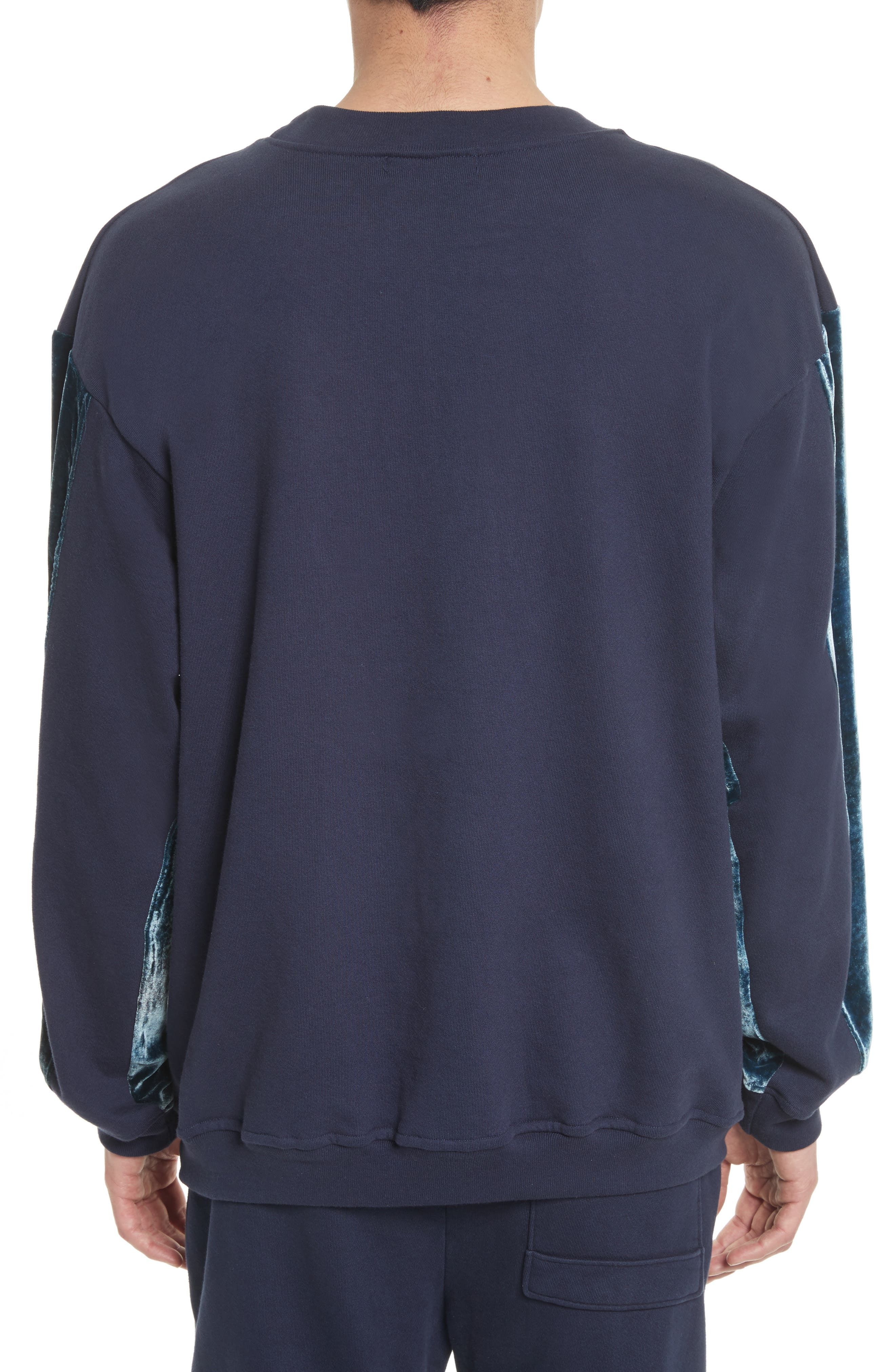 Alternate Image 2  - Drifter Galeras Velvet Sleeve Sweatshirt