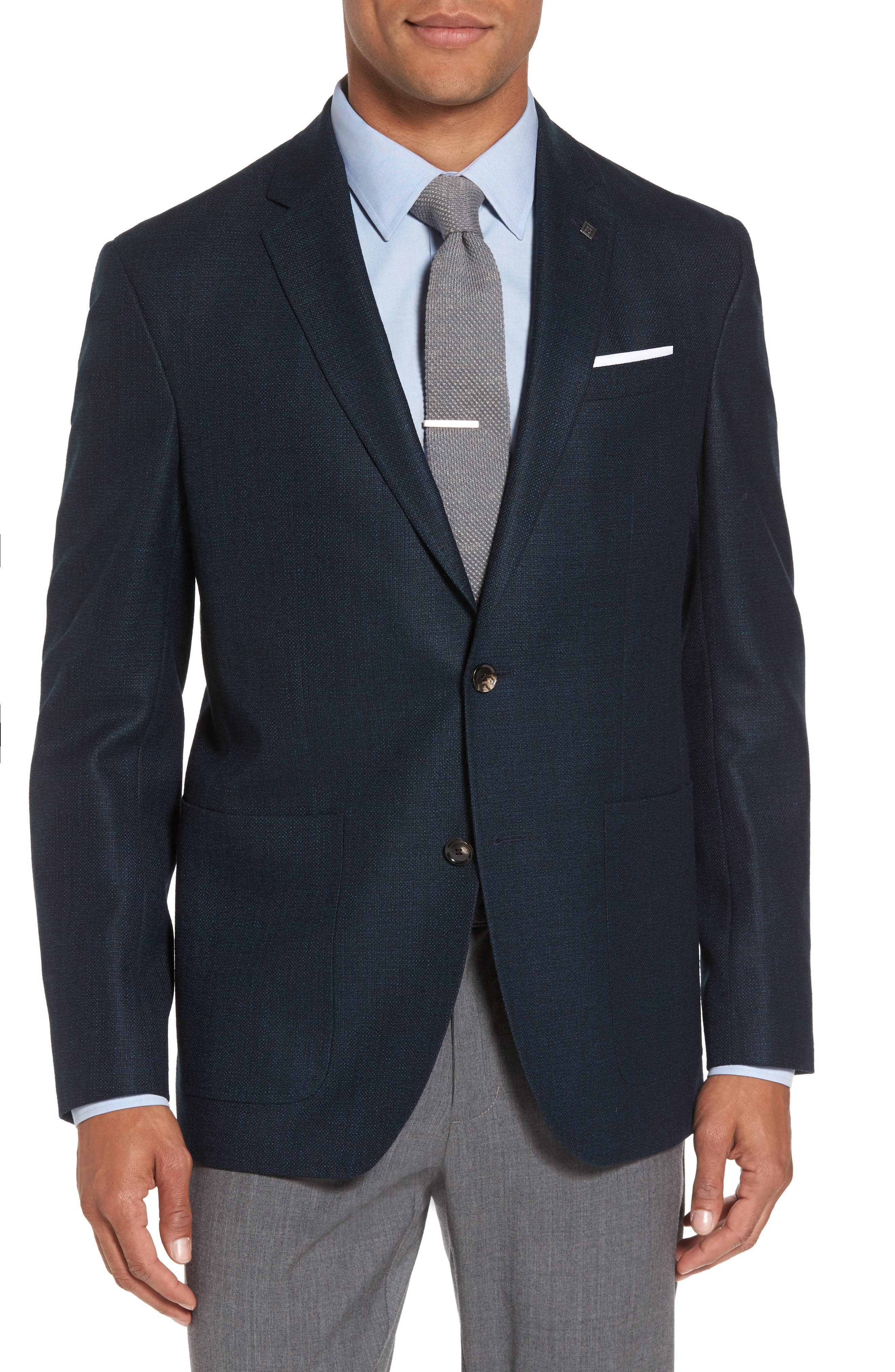 Main Image - Ted Baker London Kyle Trim Fit Check Wool Sport Coat