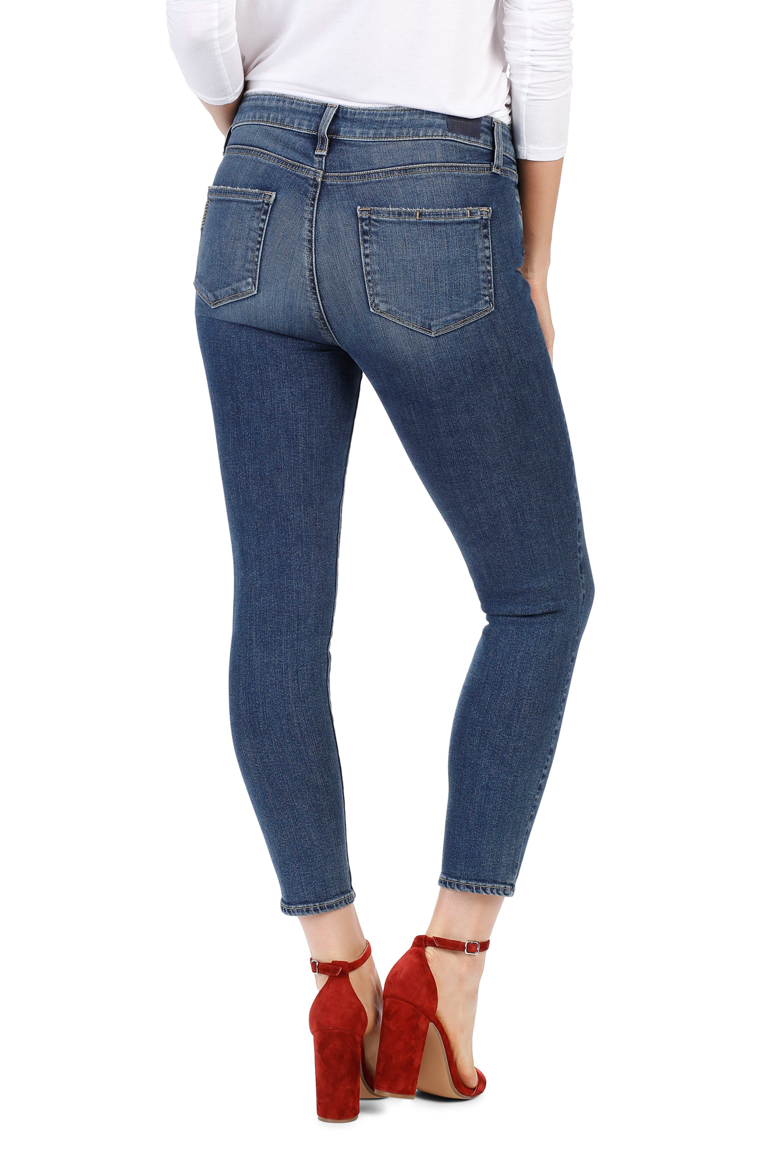 Hoxton High Waist Crop Skinny Jeans,                             Alternate thumbnail 2, color,                             Luca