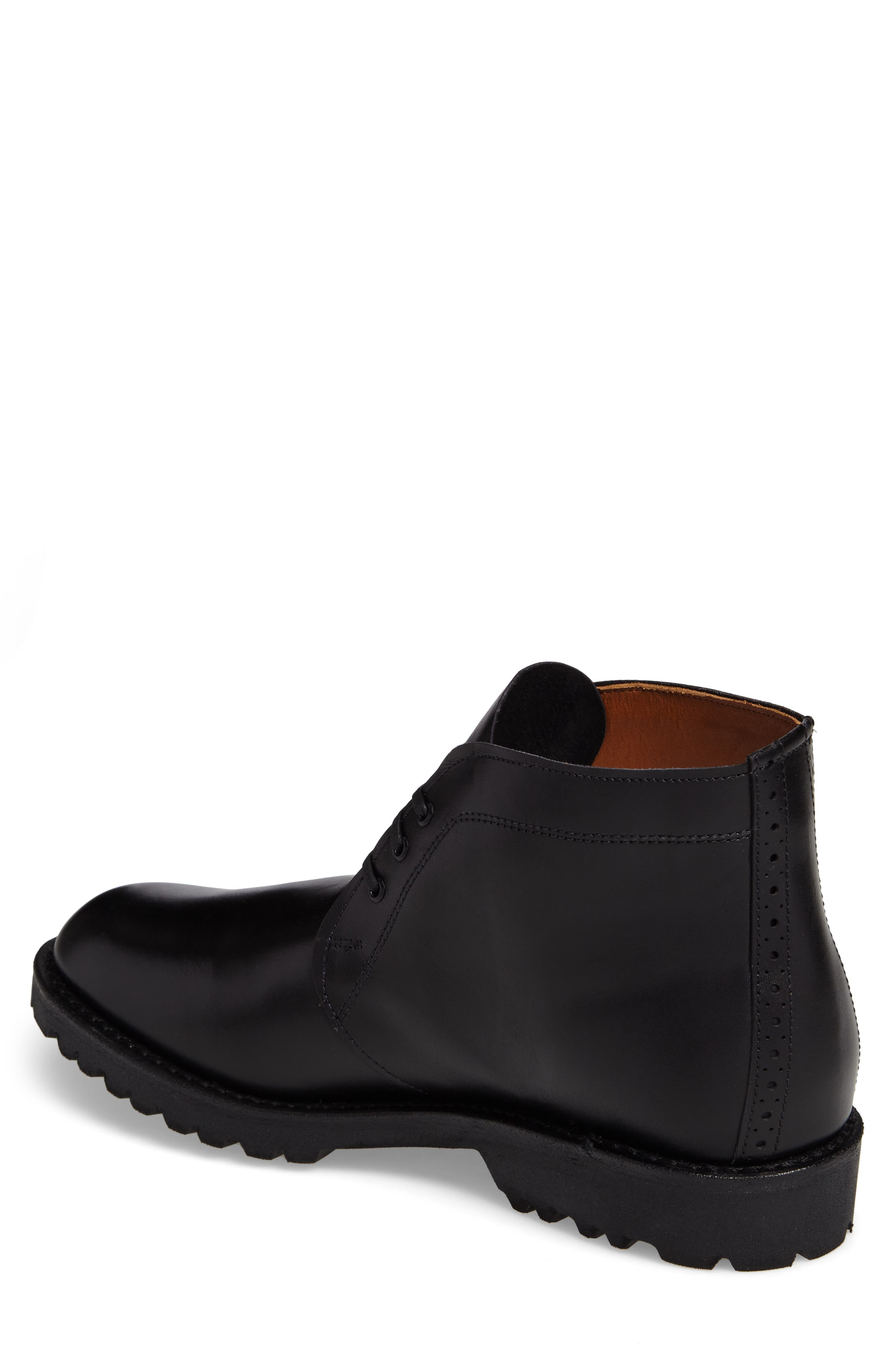Tate Chukka Boot,                             Alternate thumbnail 2, color,                             Black Leather