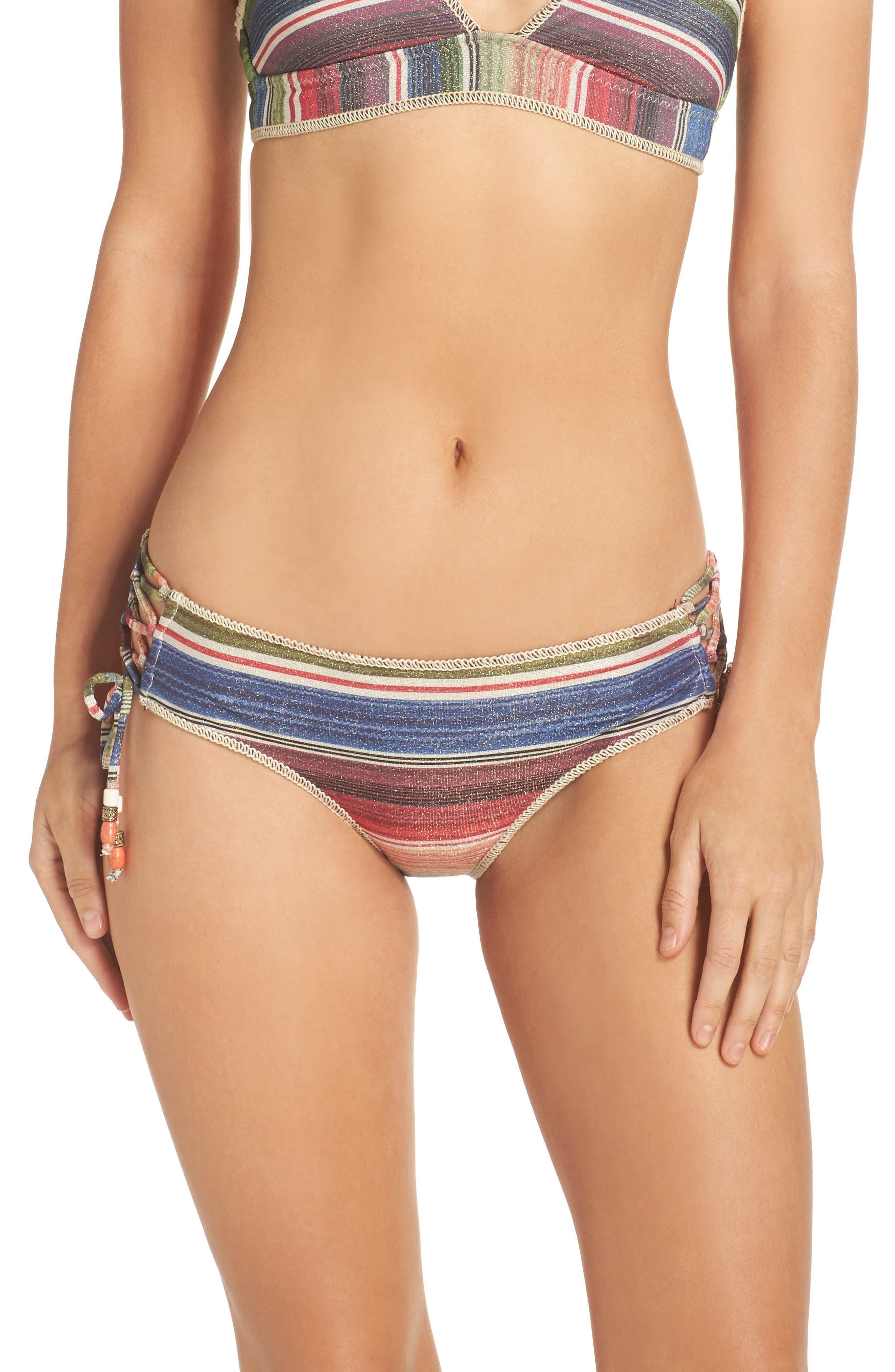 West Village Hipster Bikini Bottoms,                         Main,                         color, Purple Multi