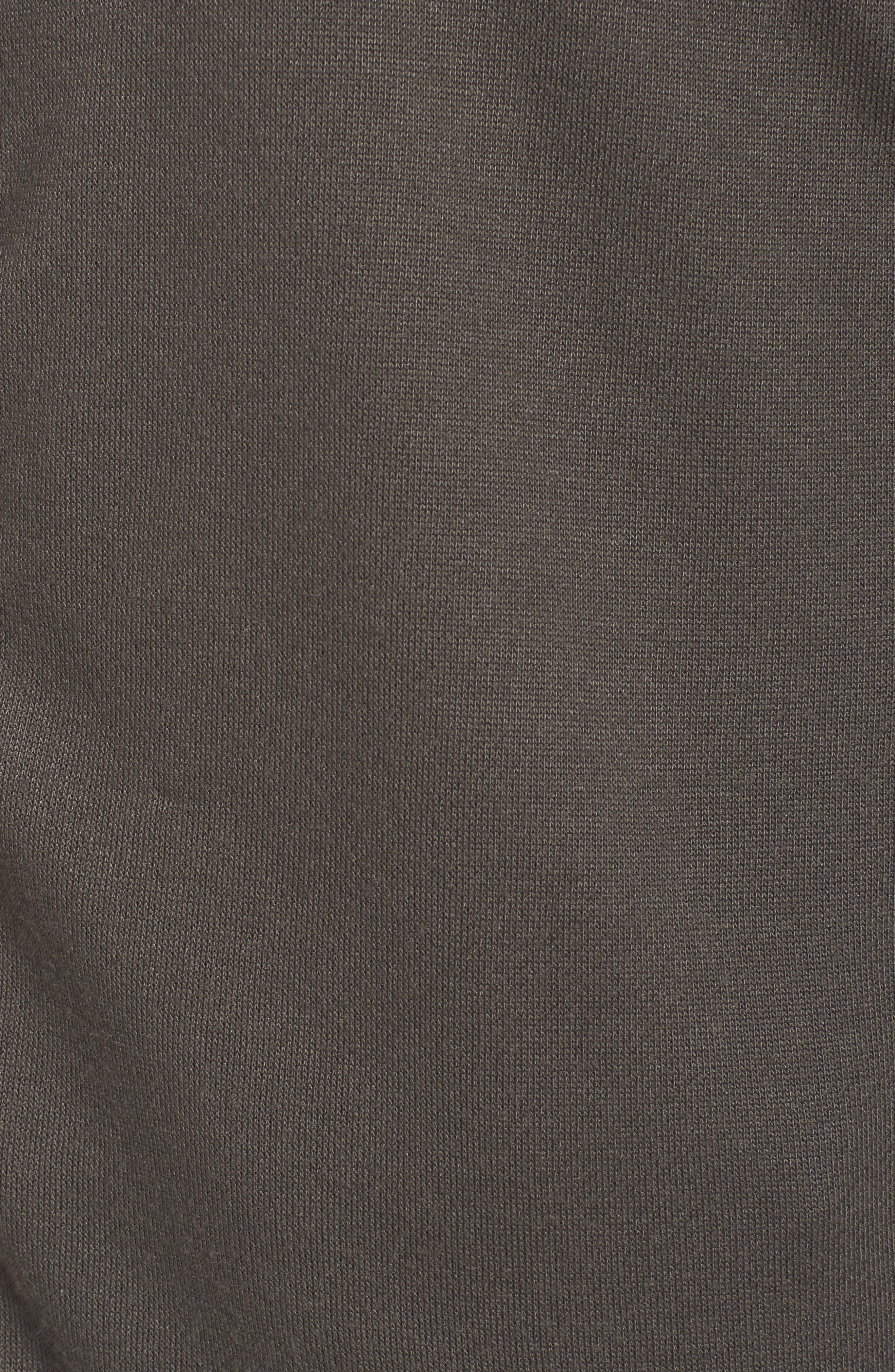 Oversize Zip-Up Hoodie,                             Alternate thumbnail 5, color,                             Dove Grey