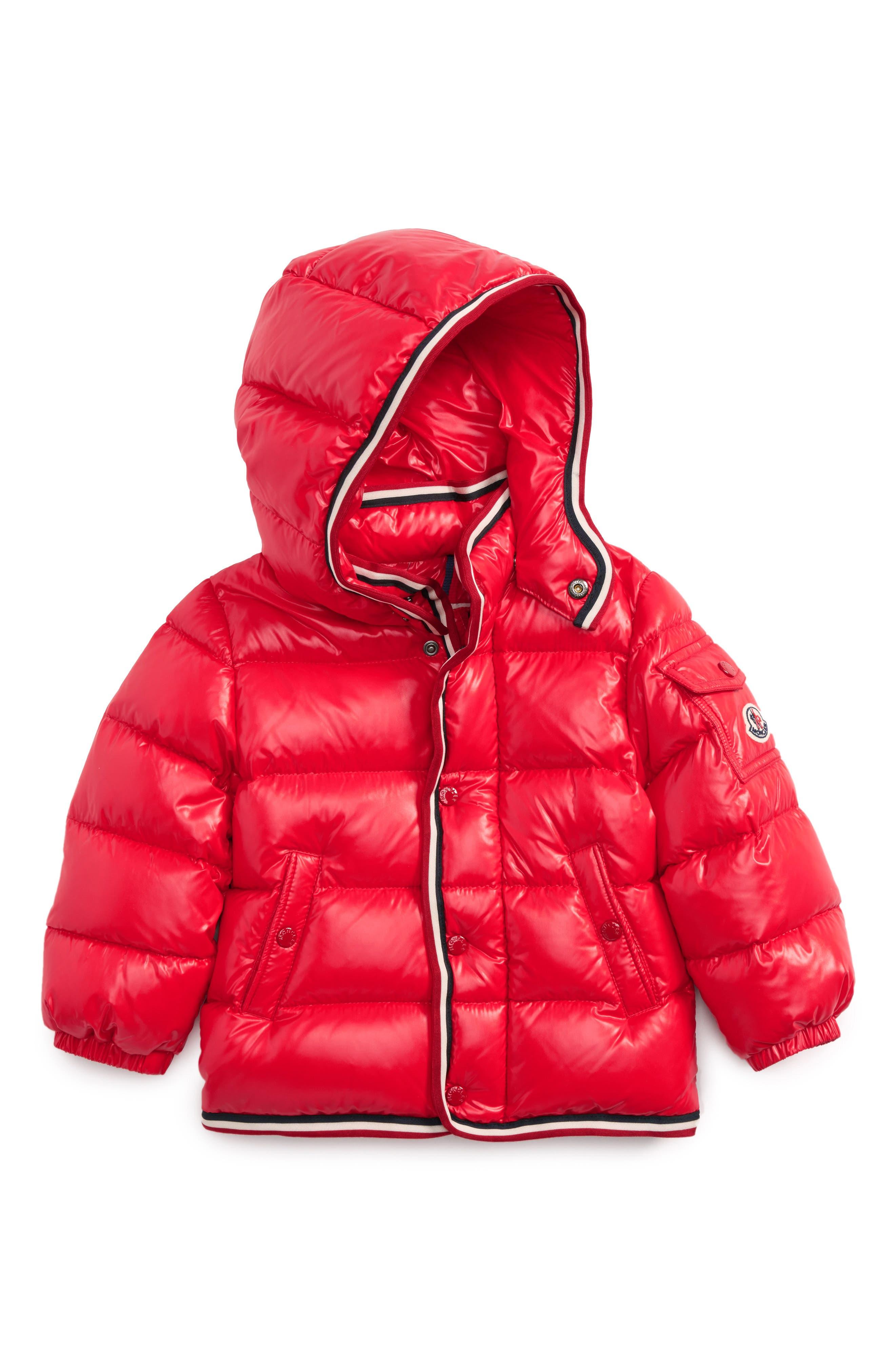 Main Image - Moncler Abelard Water Repellent Down Jacket (Baby)