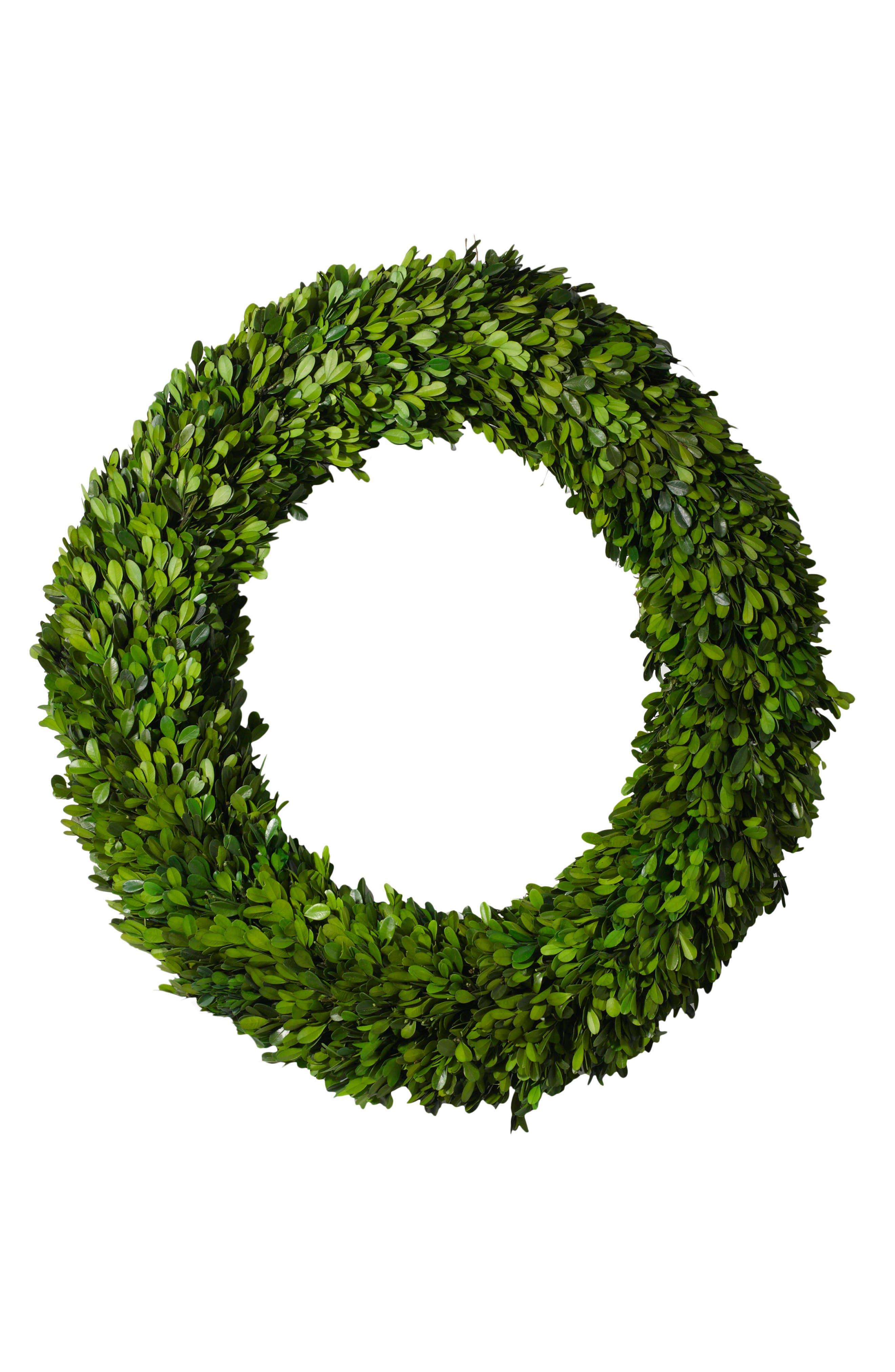 Boxwood Wreath,                             Main thumbnail 1, color,                             Green