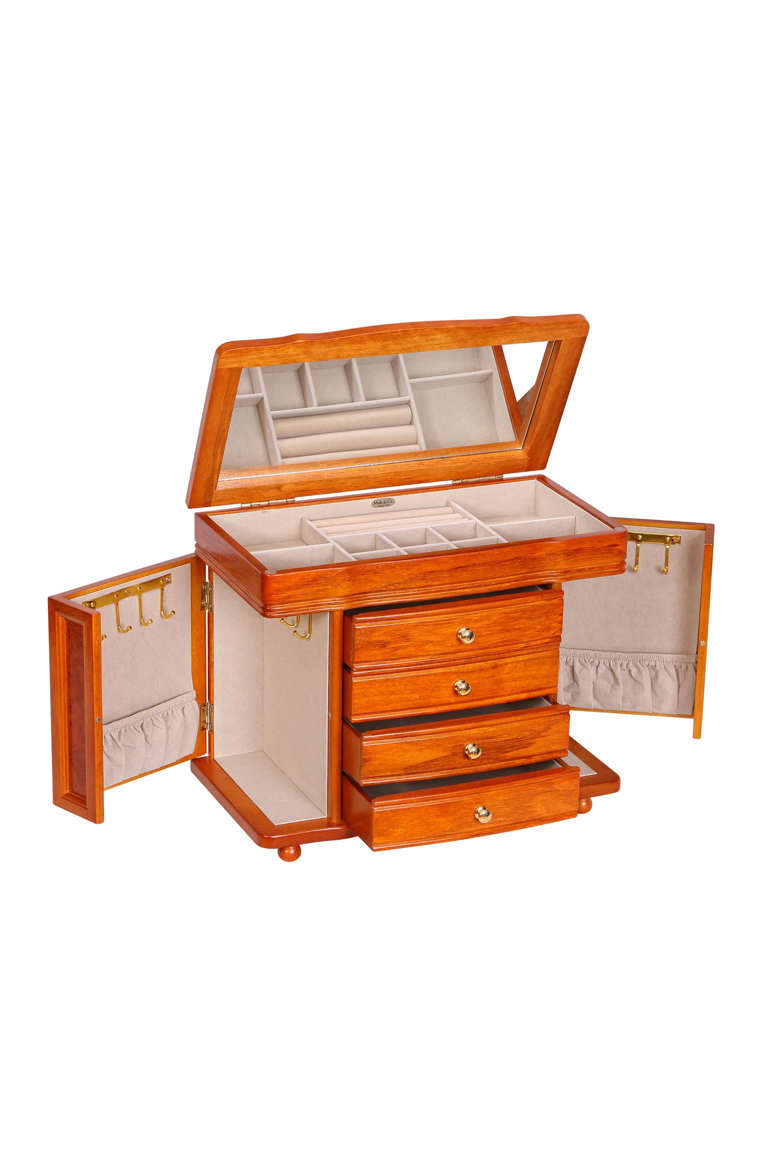 Josephine Jewelry Box,                             Alternate thumbnail 3, color,                             Brown