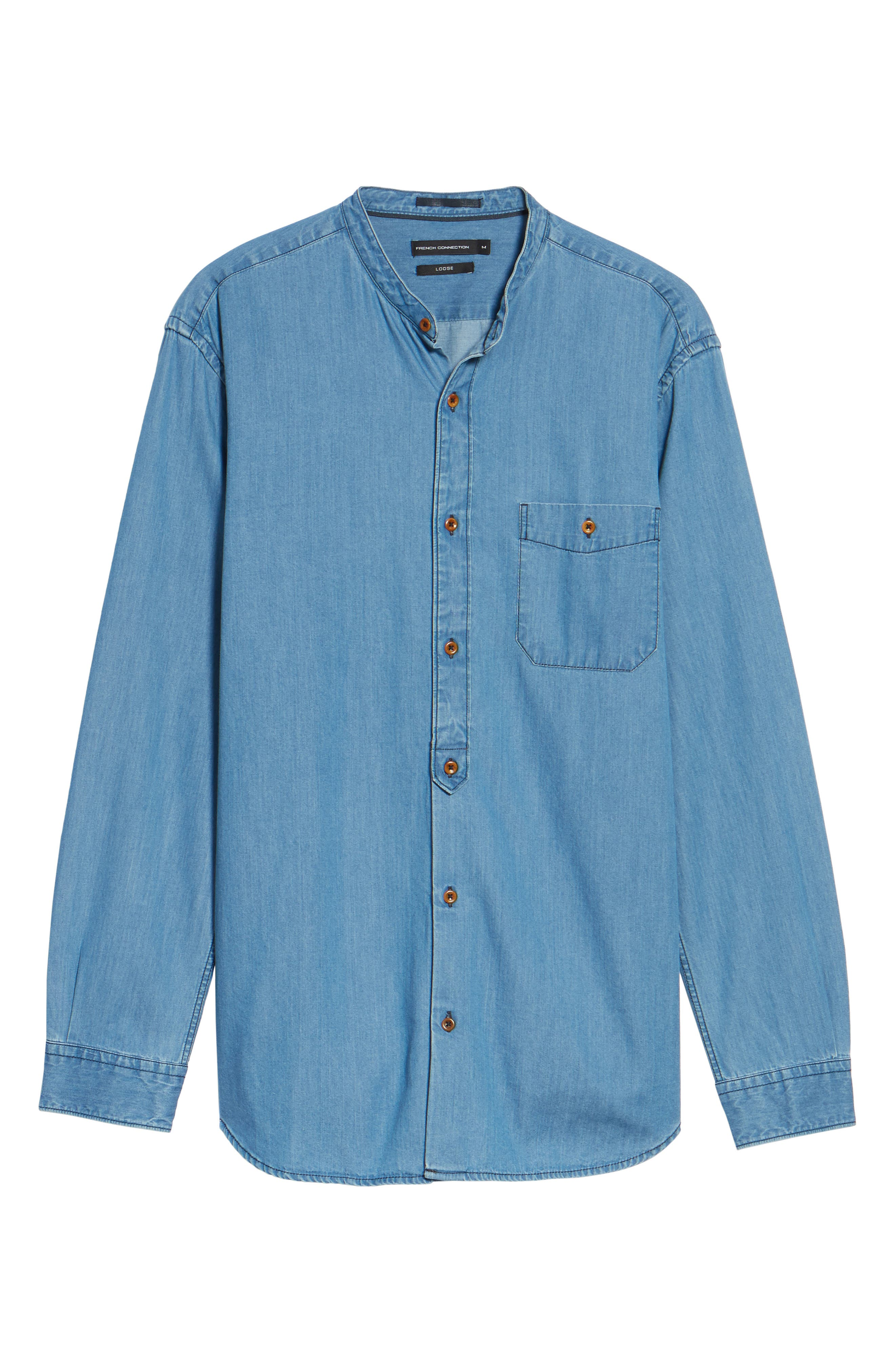 Alternate Image 5  - French Connection The Three Ages of Denim Sport Shirt