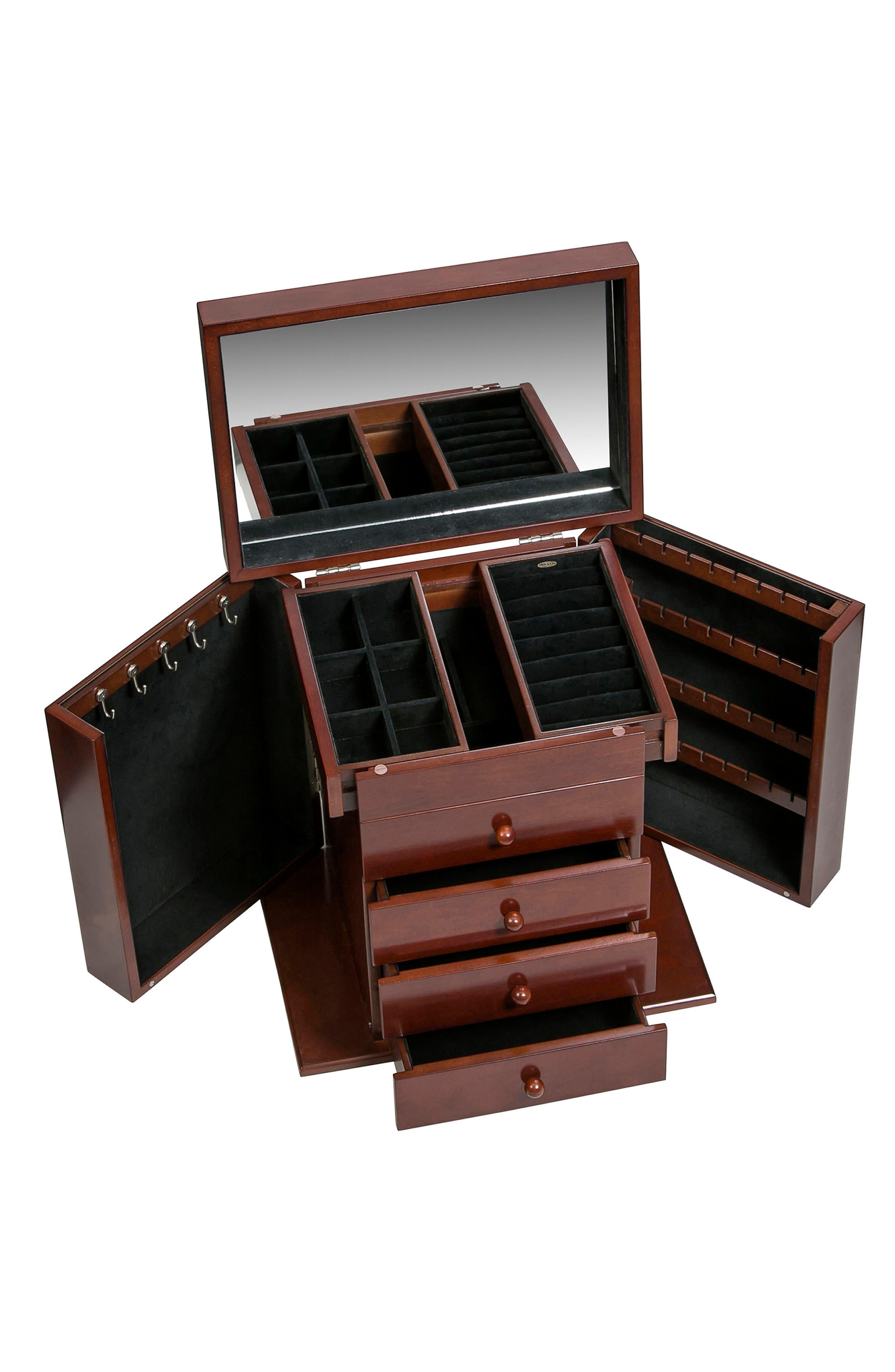 Shelburne Jewelry Box,                             Alternate thumbnail 6, color,                             Brown