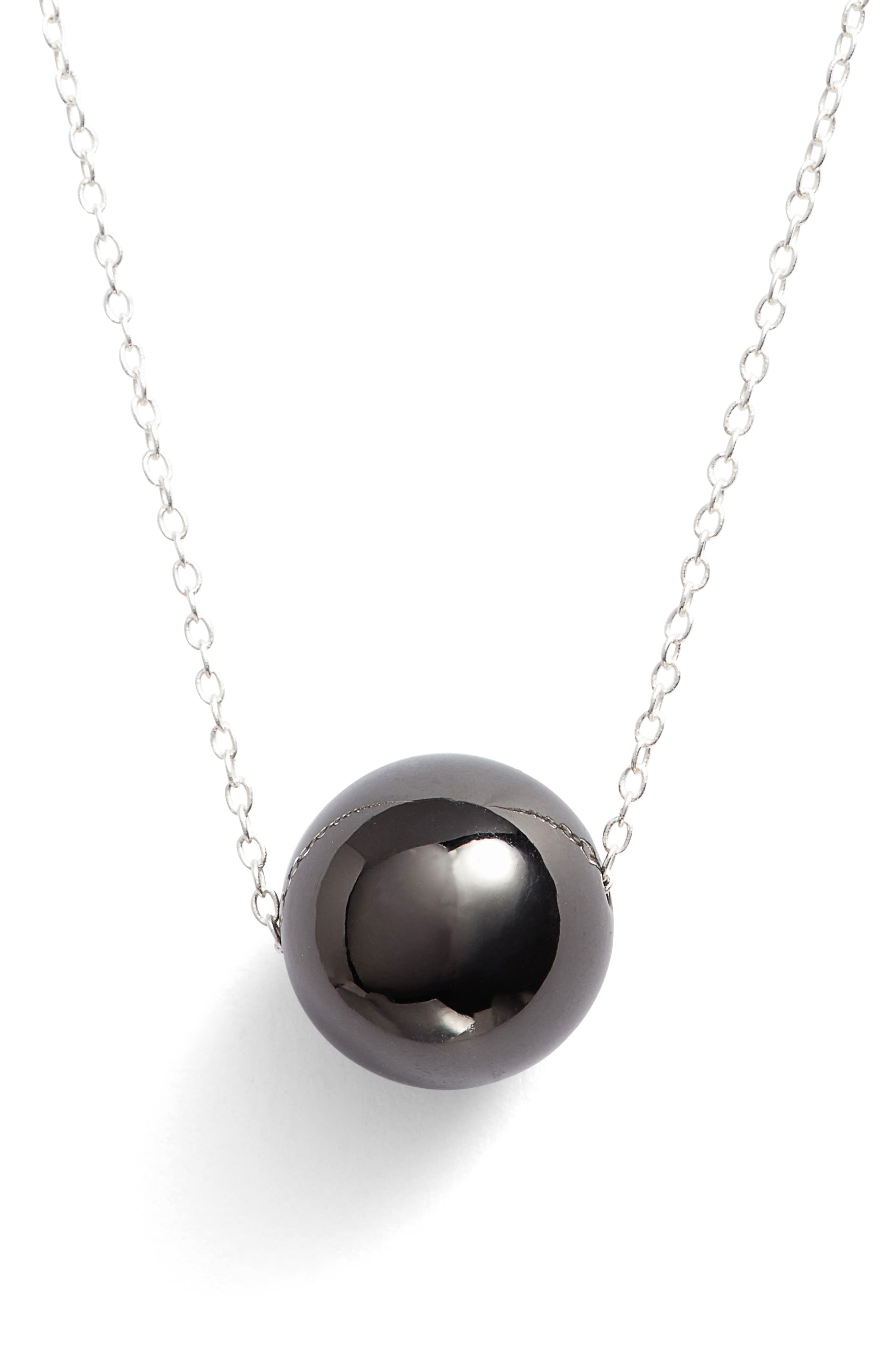 Alternate Image 1 Selected - Argento Vivo Sphere Pendant Necklace