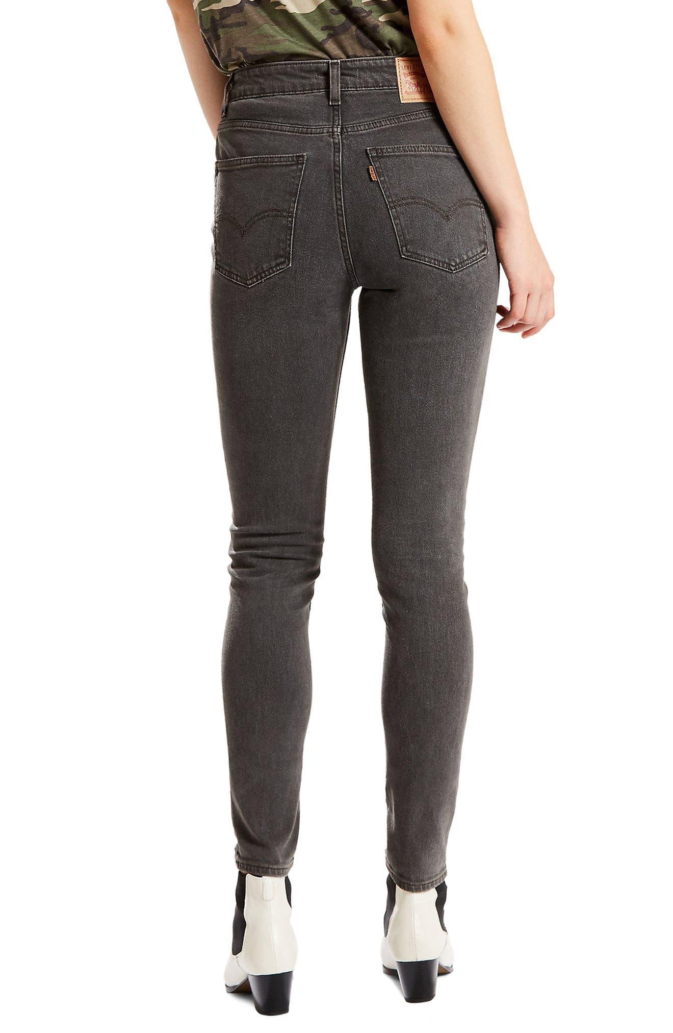 Alternate Image 2  - Levi's® Orange Tab 721 High Waist Skinny Jeans (Black Widow)