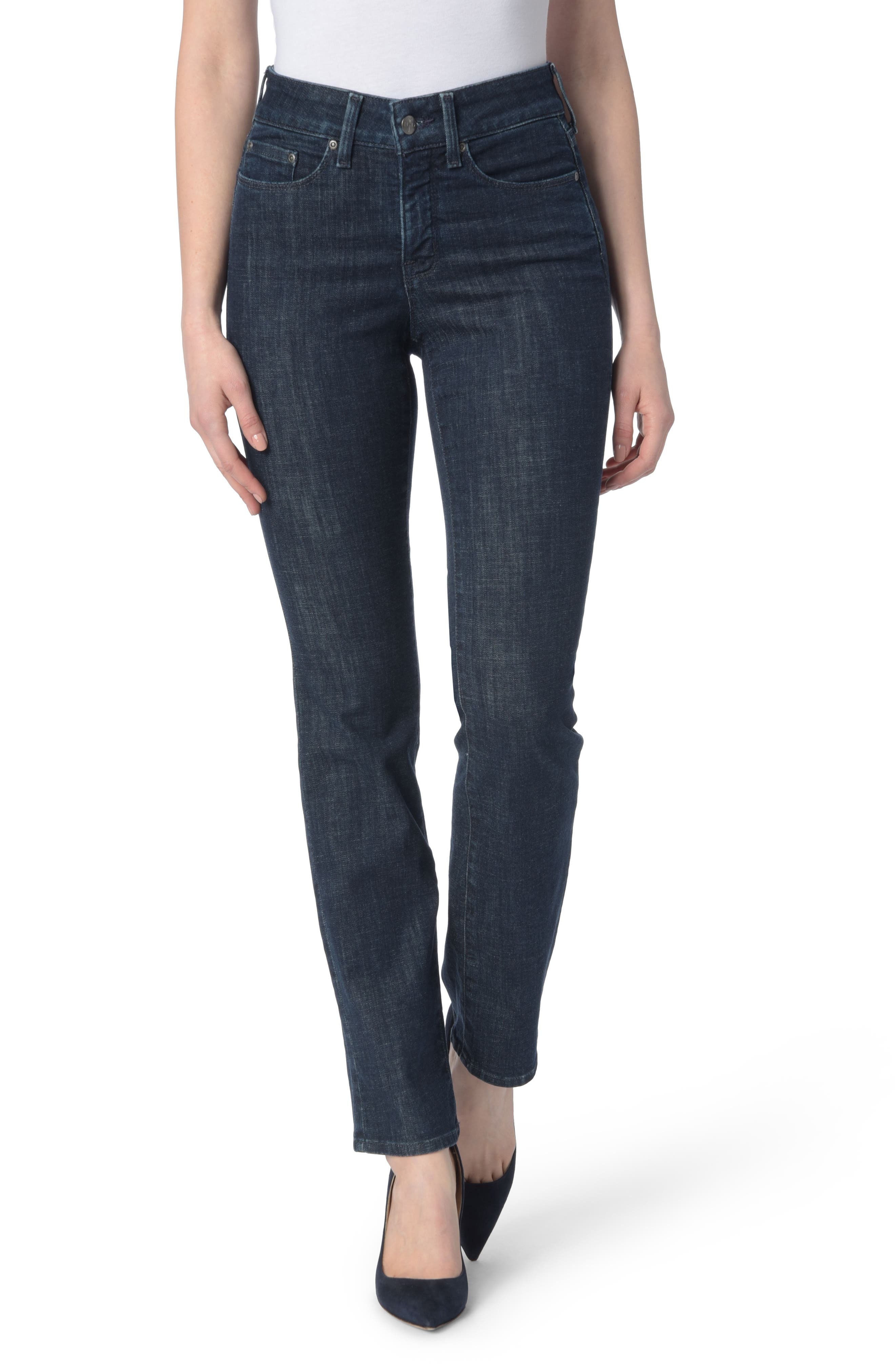 Alternate Image 1 Selected - NYDJ Marilyn Stretch Straight Leg Jeans (Rambard)