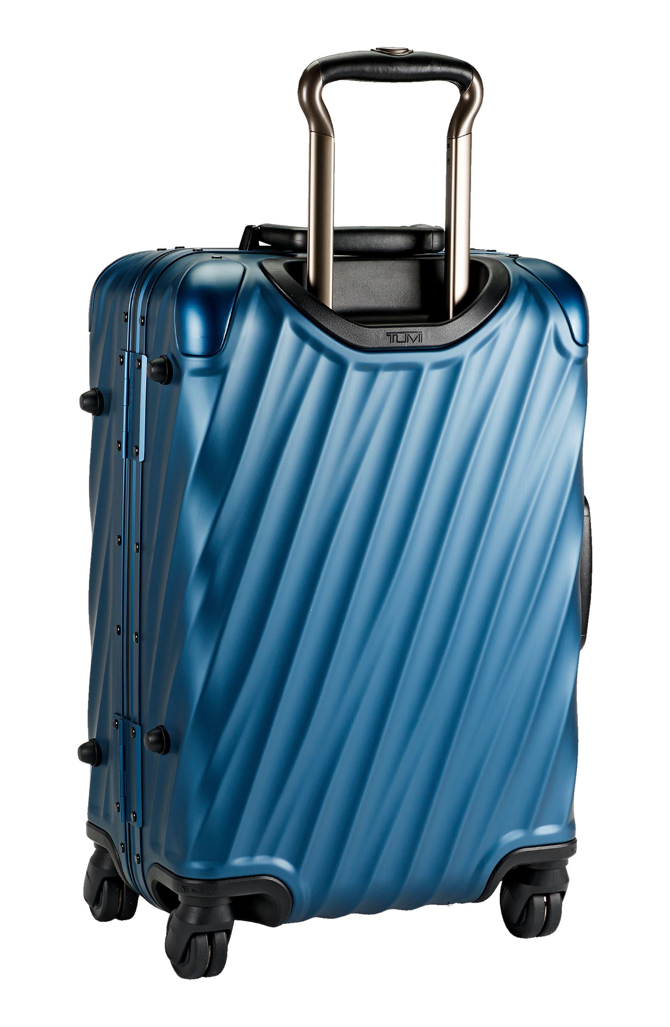 19 Degree 22 Inch International Wheeled Aluminum Carry-On,                             Alternate thumbnail 5, color,                             Blue