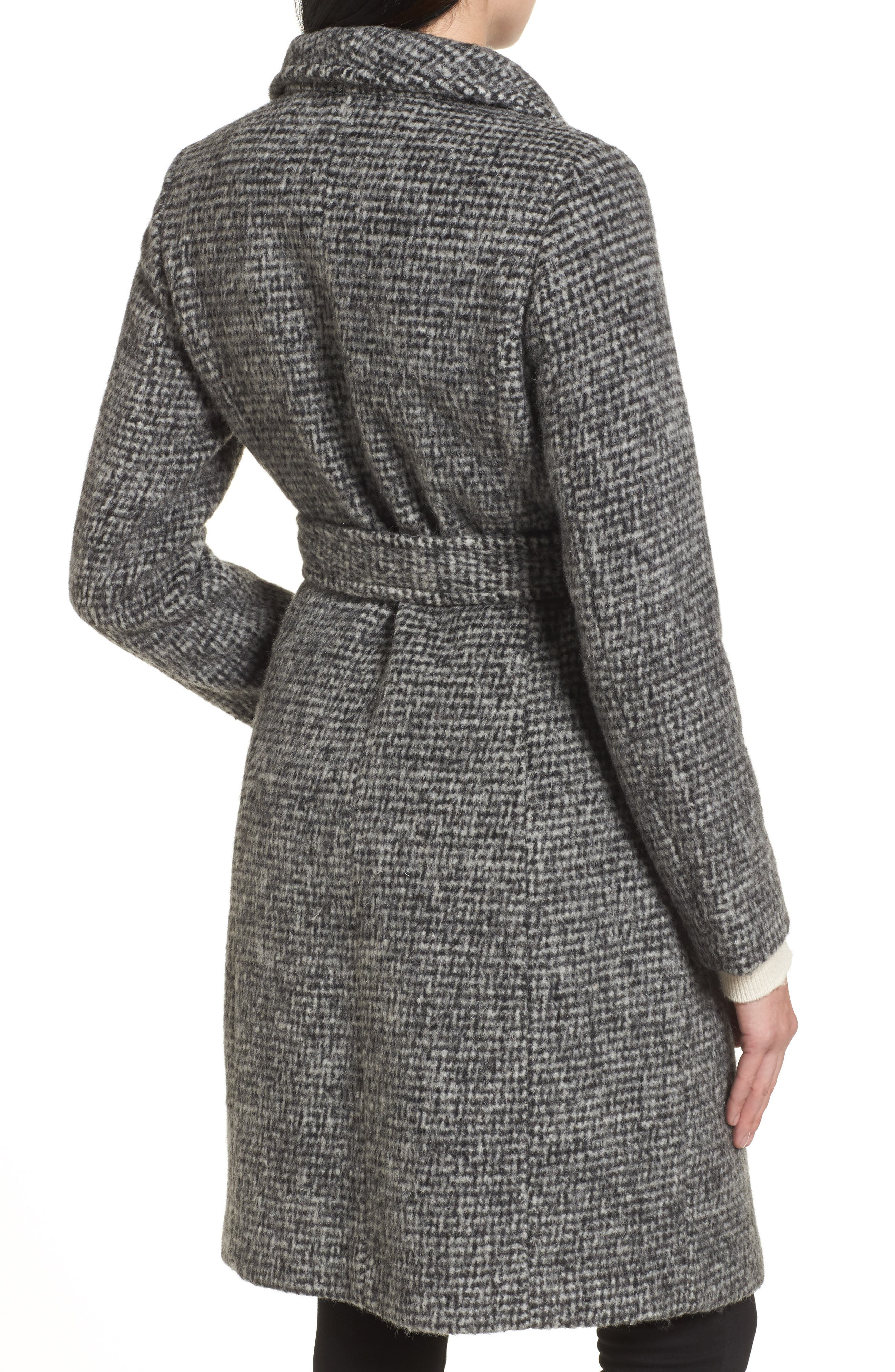 Alternate Image 2  - Cole Haan Signature Wool Shawl Collar Wrap Coat