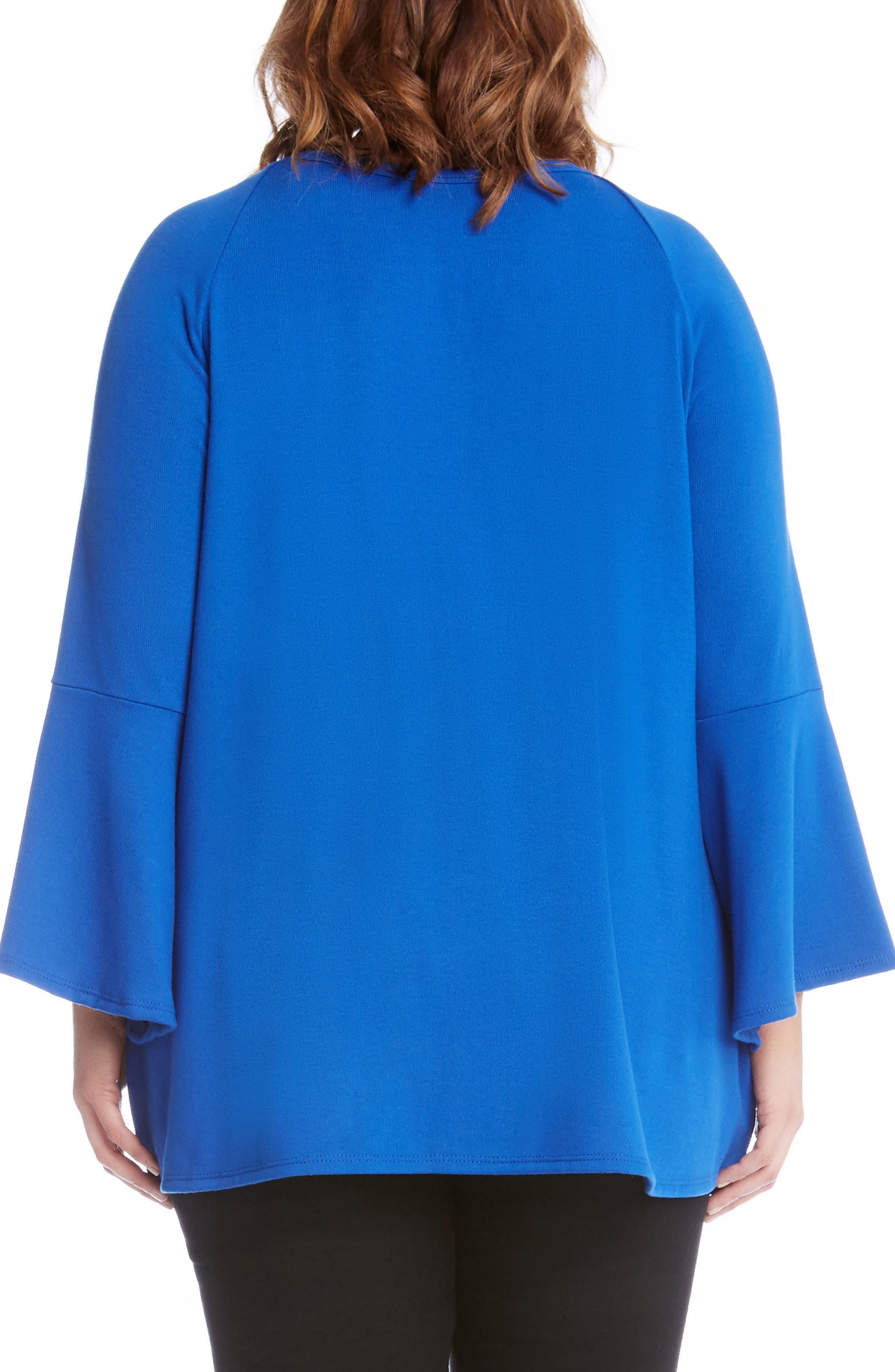 Bell Sleeve Swing Sweater,                             Alternate thumbnail 2, color,                             Blue